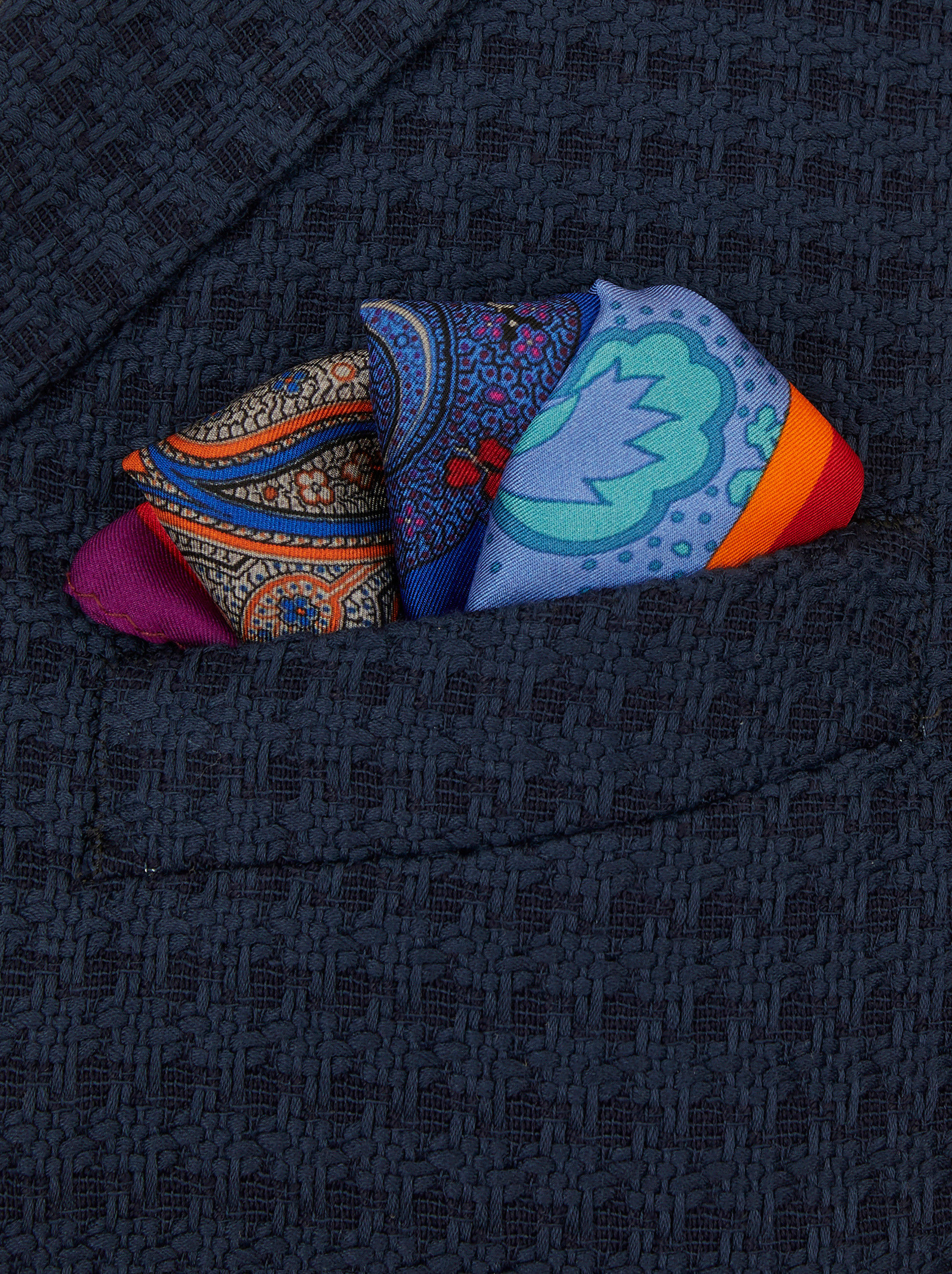 PATCHWORK PRINT POCKET SQUARE