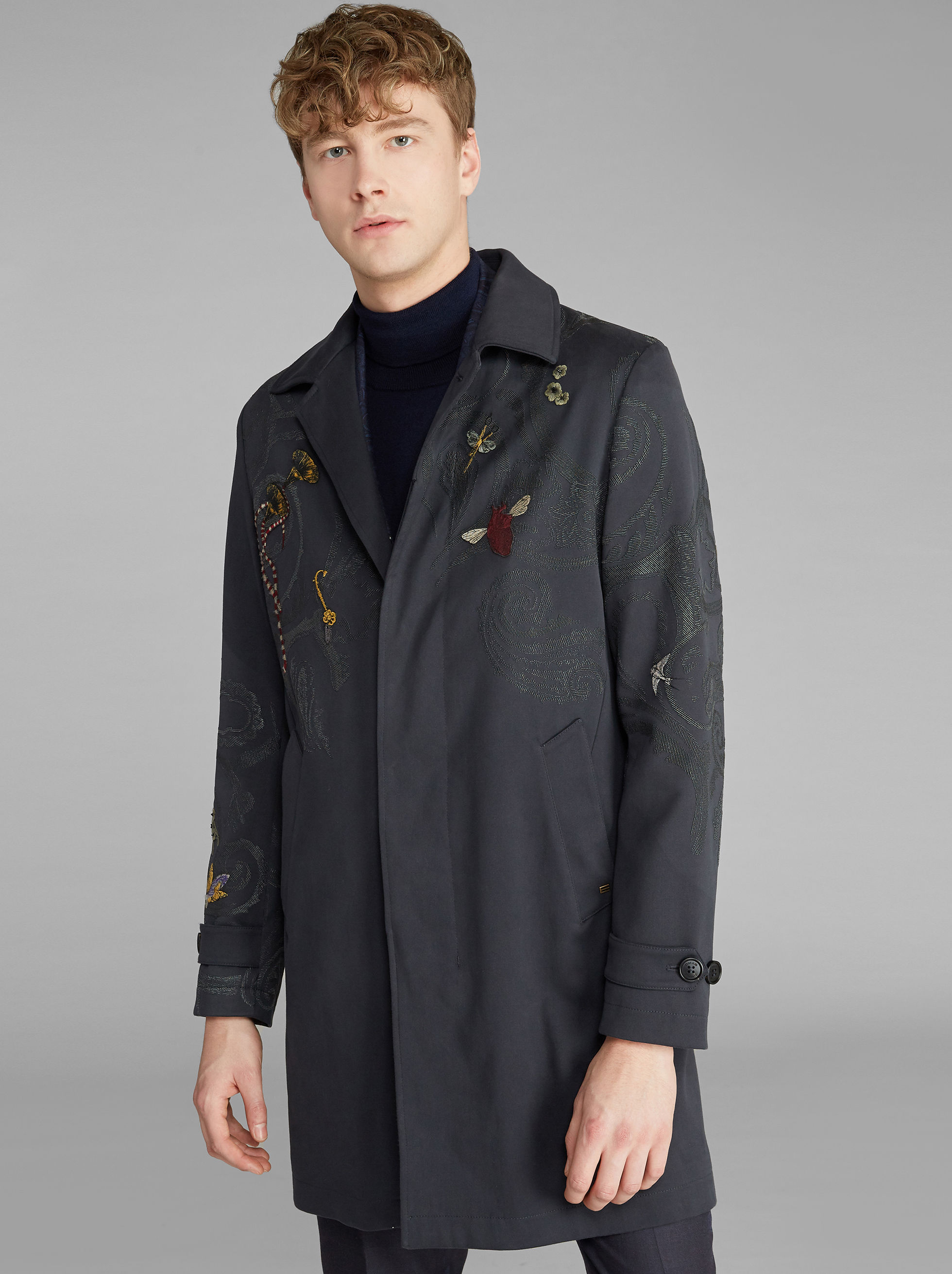 TRENCH COAT WITH EMBROIDERY