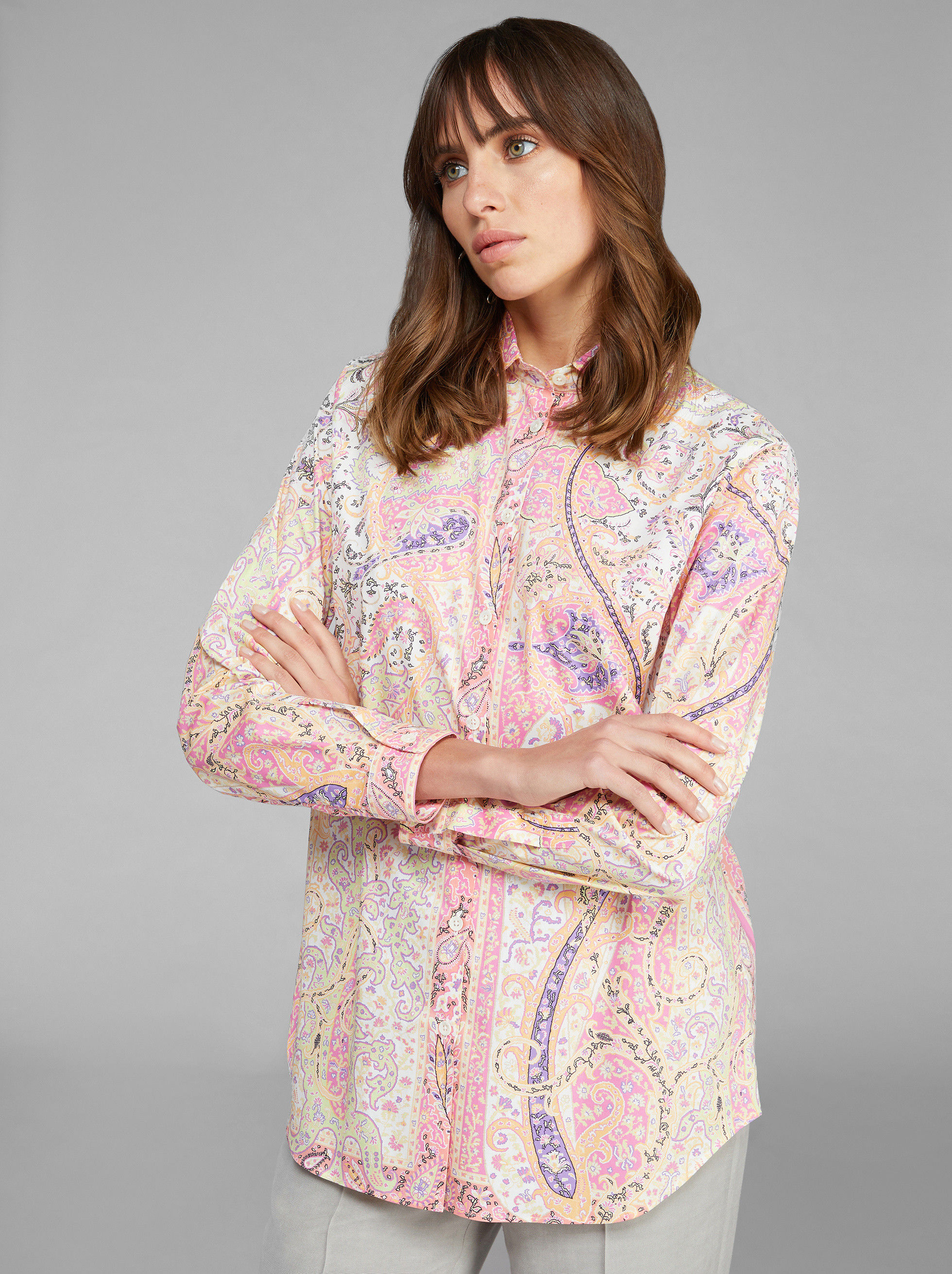 GRAPHIC PAISLEY PATTERN SHIRT