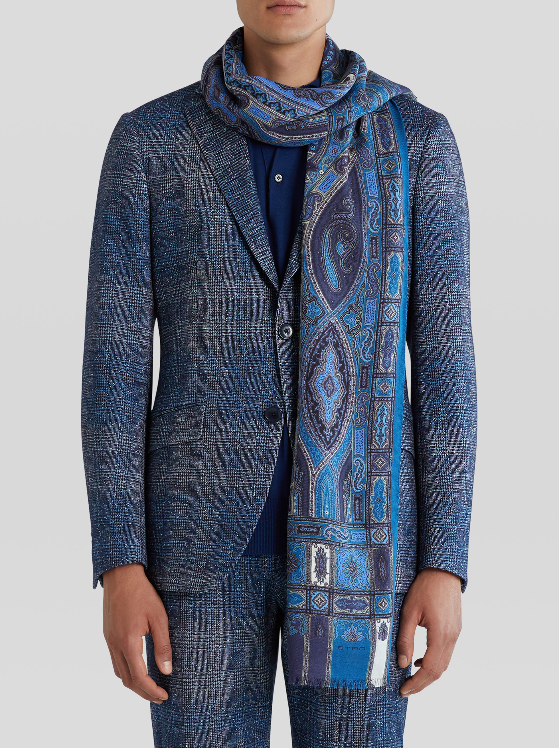 PAISLEY SILK AND CASHMERE SCARF