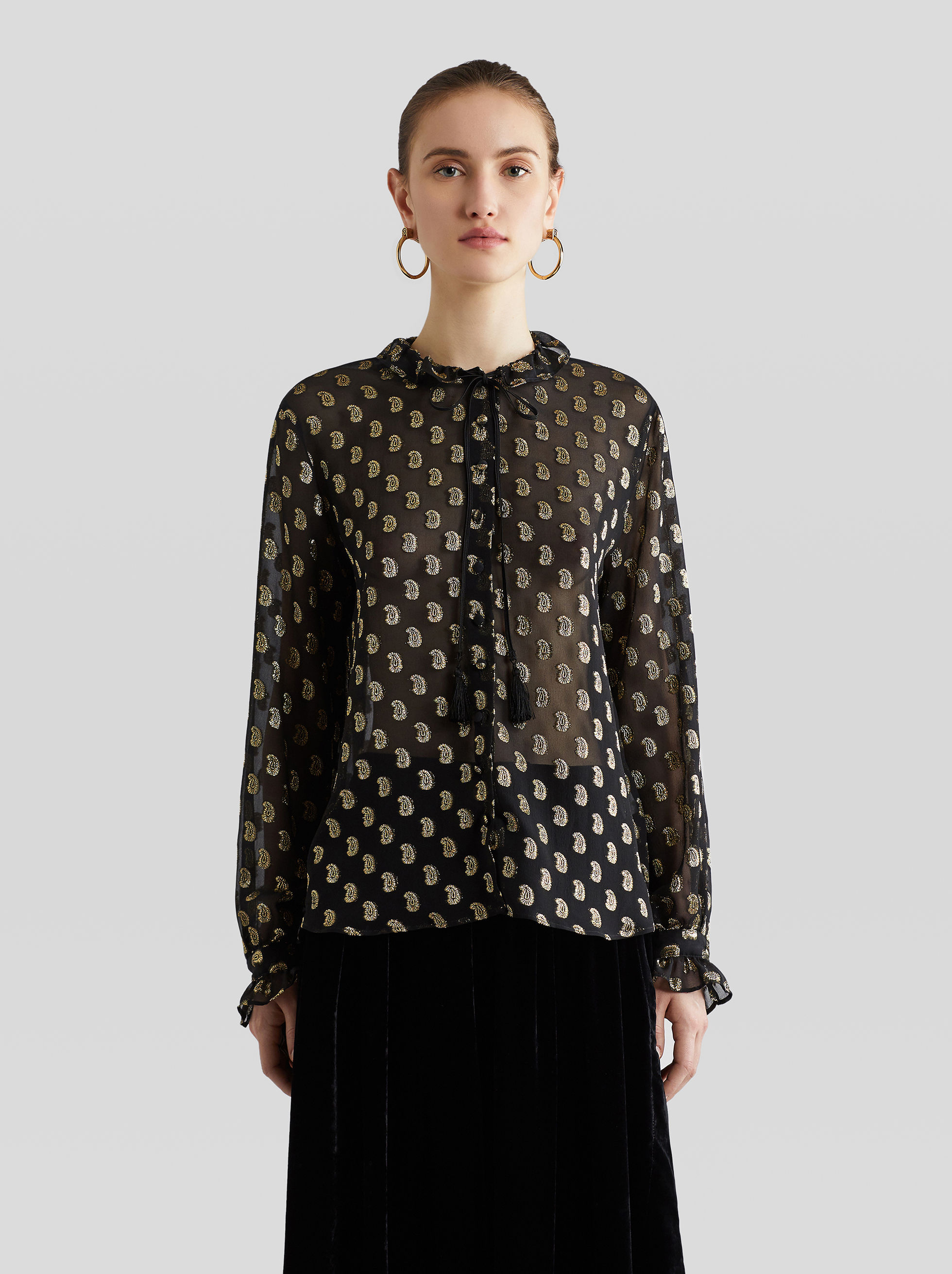 GEORGETTE SHIRT WITH PAISLEY