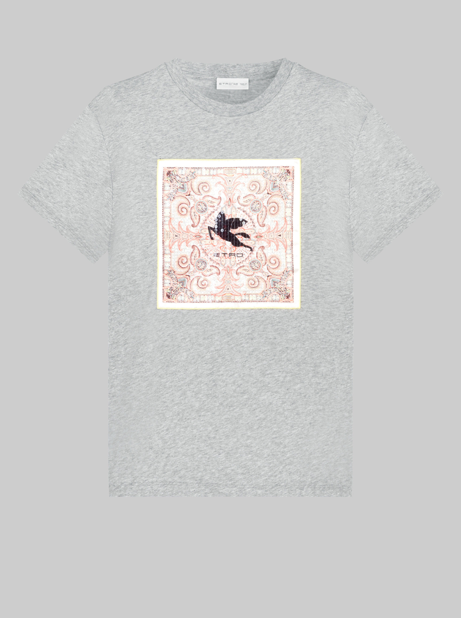 T-SHIRT WITH PEGASO AND SEQUINS