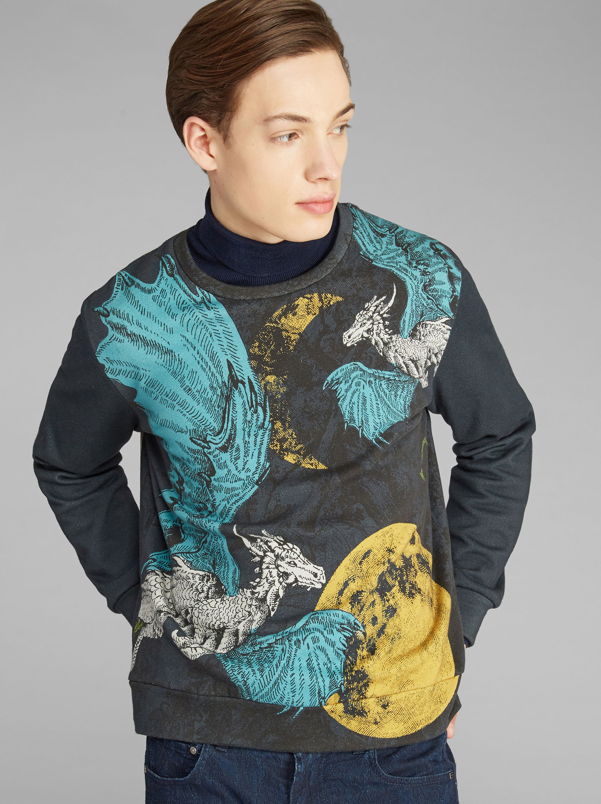 DRAGON-PRINT SWEATSHIRT