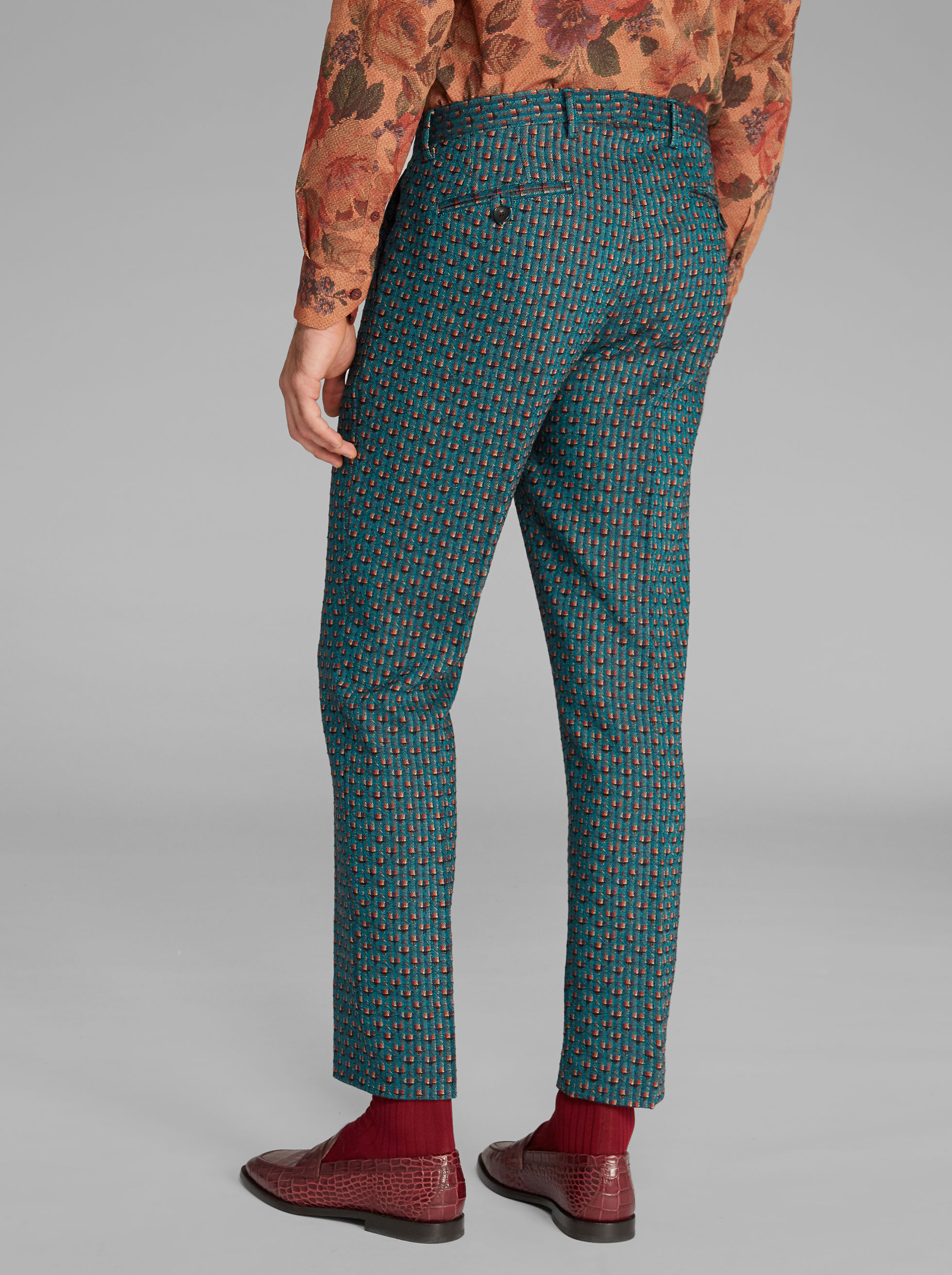 GEOMETRIC-PRINT TROUSERS