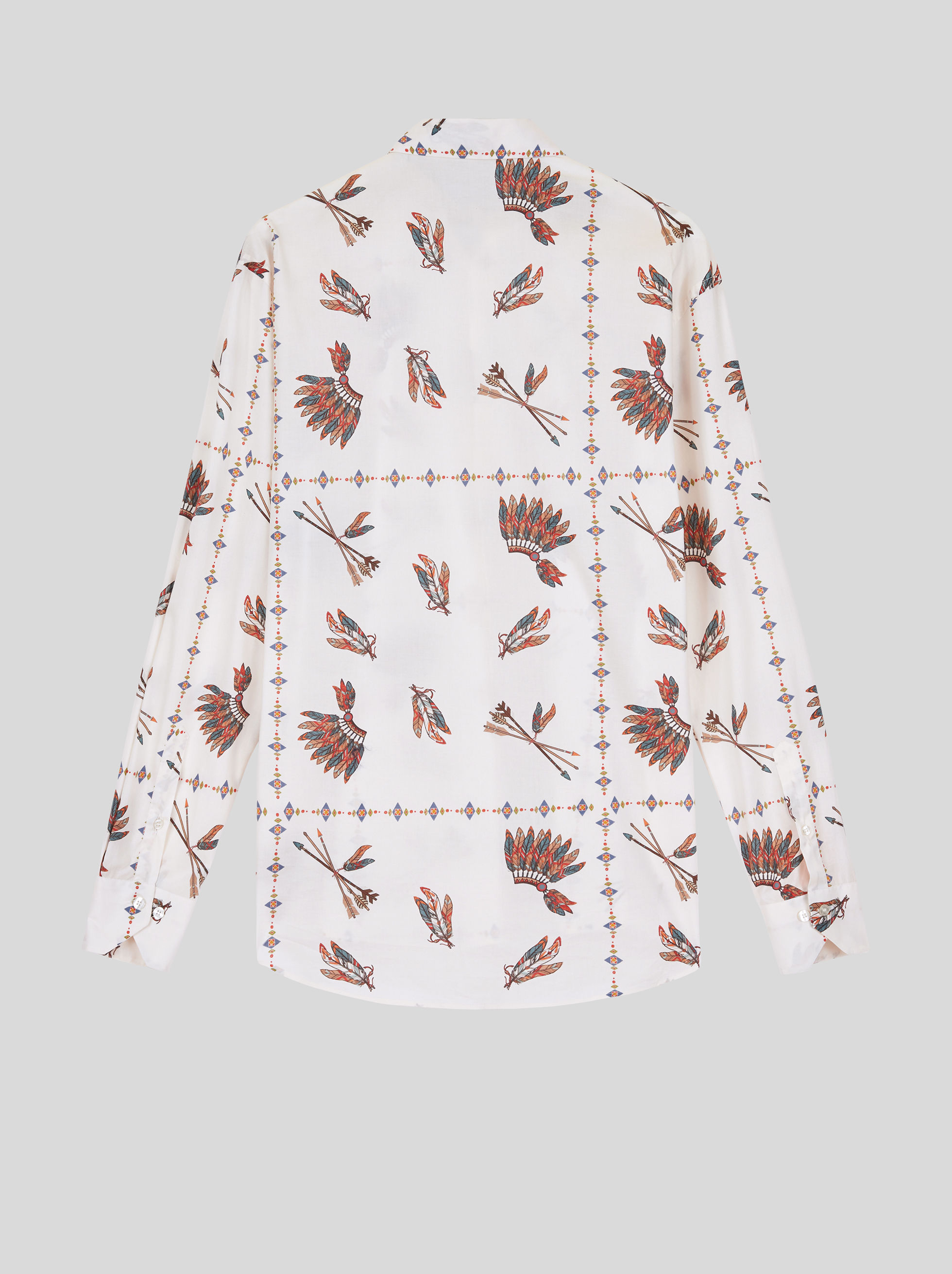 FEATHER DESIGN COTTON SHIRT