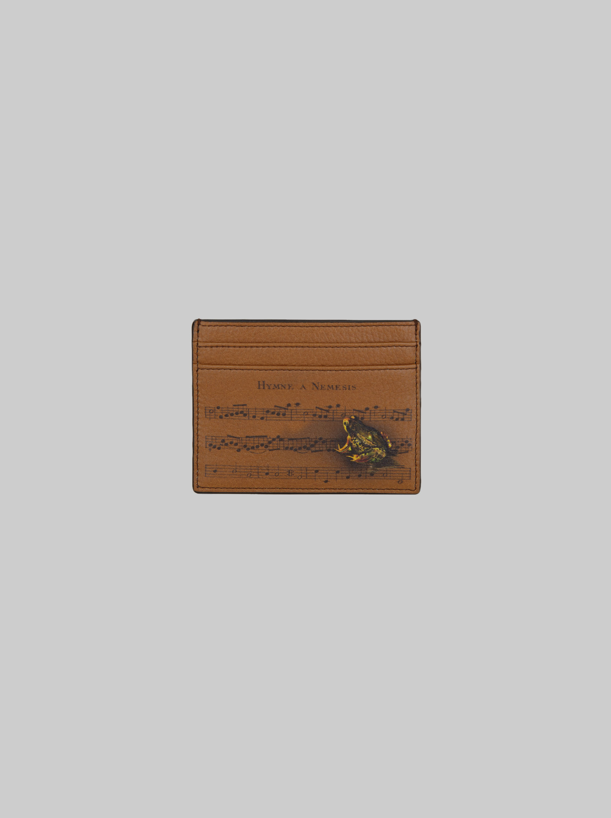 ANIMAL-PRINT LEATHER CREDIT CARD HOLDER