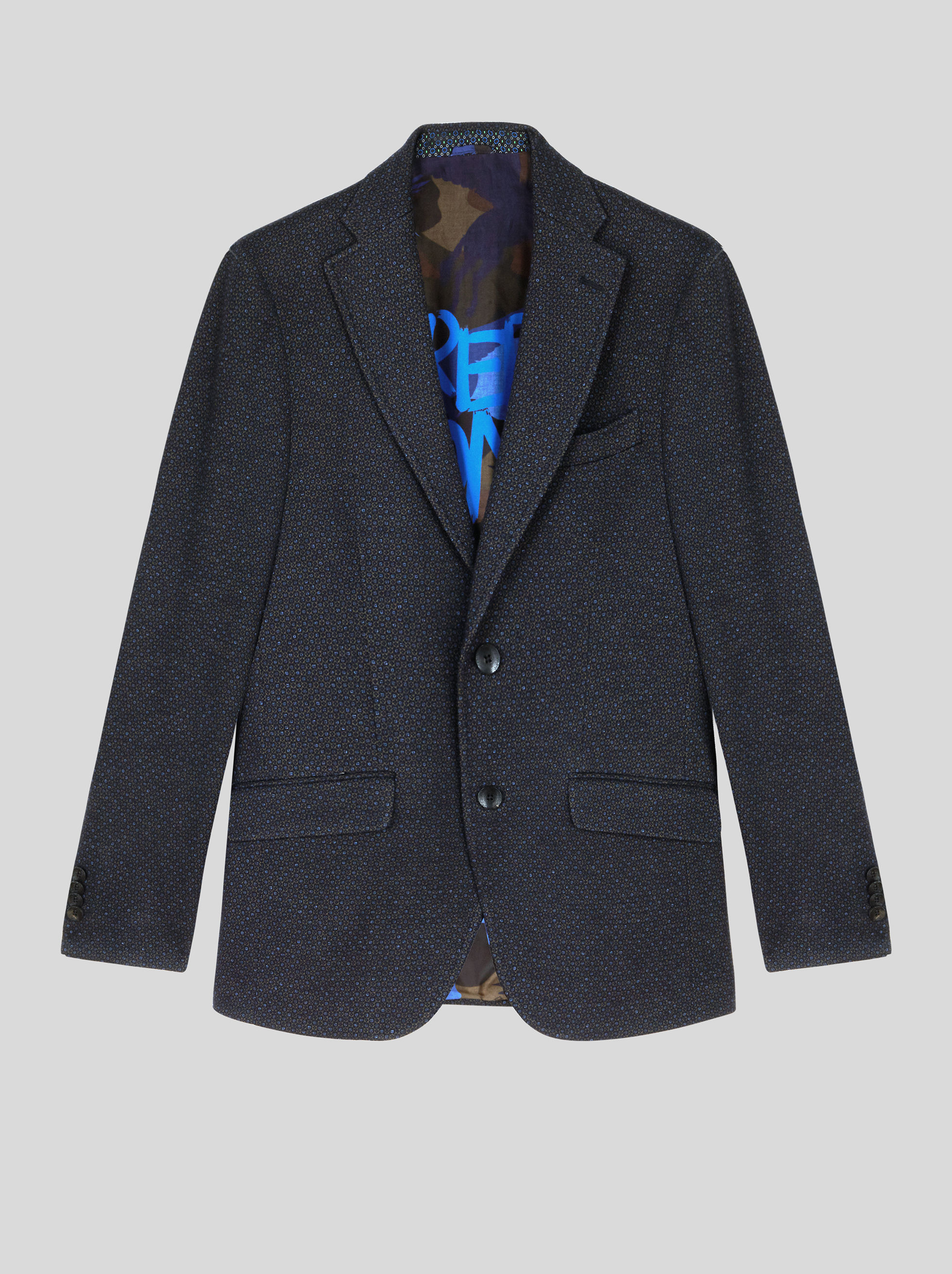 JERSEY JACKET WITH GEOMETRIC PATTERNS