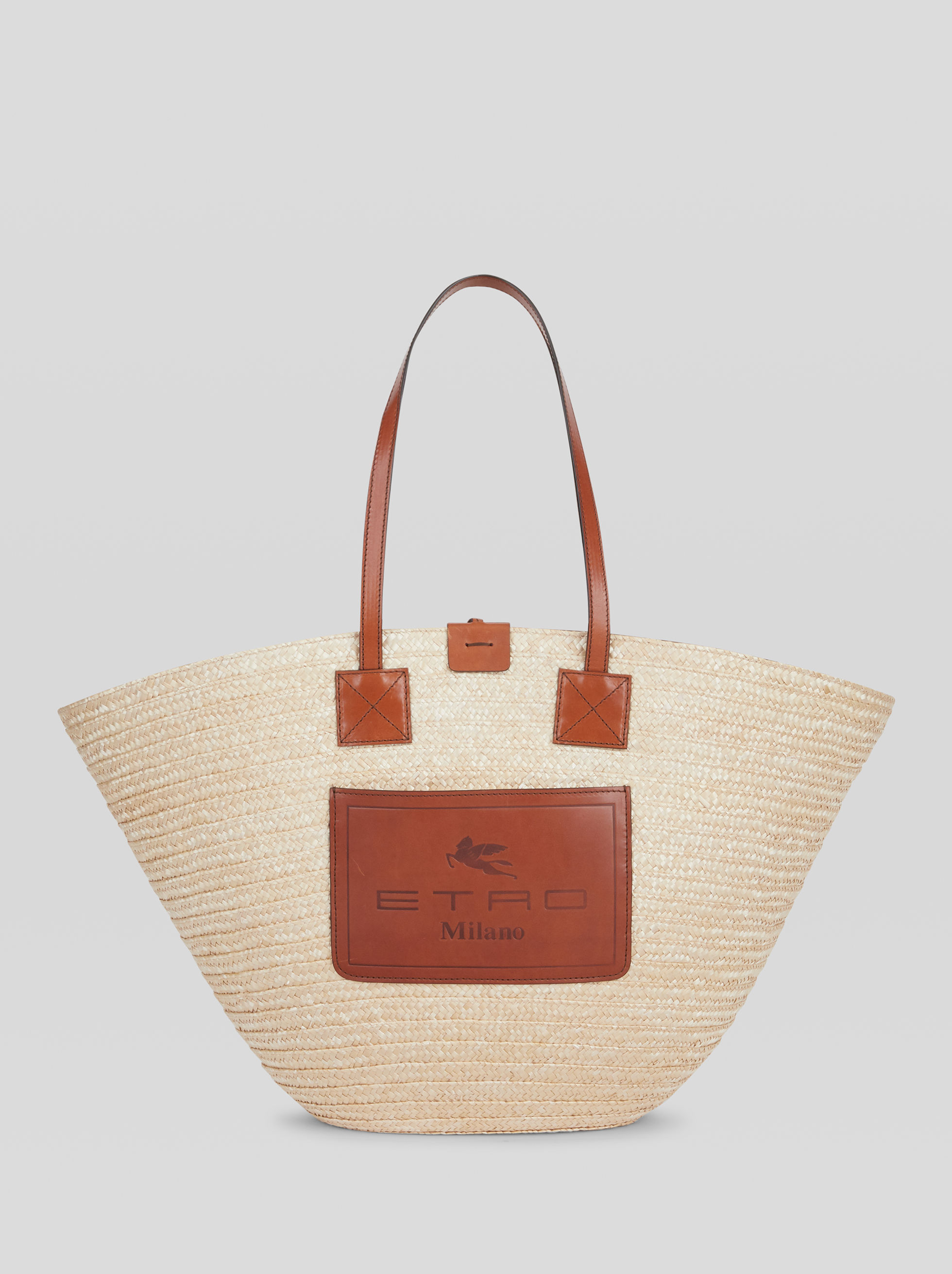 SHOPPING BAG IN RAFFIA