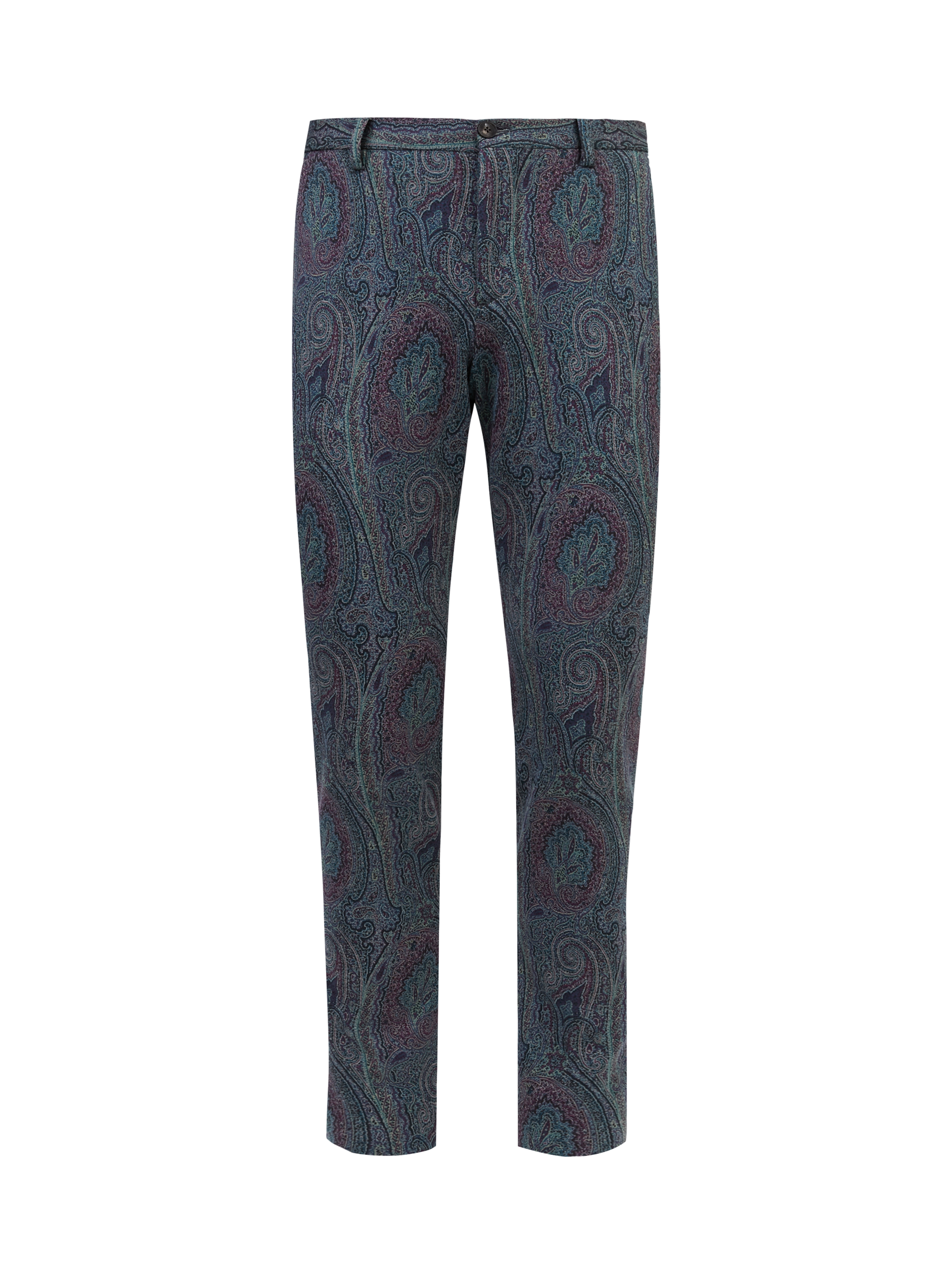 PAISLEY JERSEY TAILORED TROUSERS
