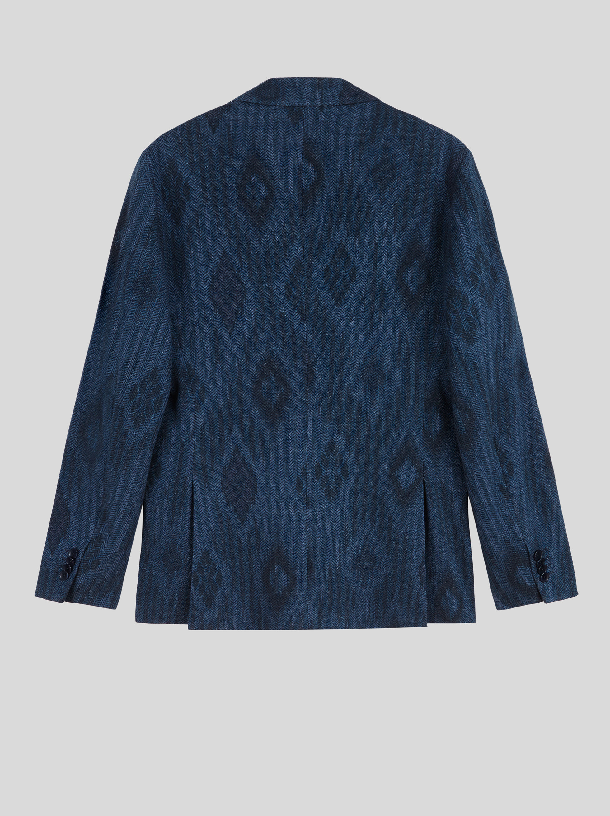 GEOMETRIC PATTERN JERSEY JACKET