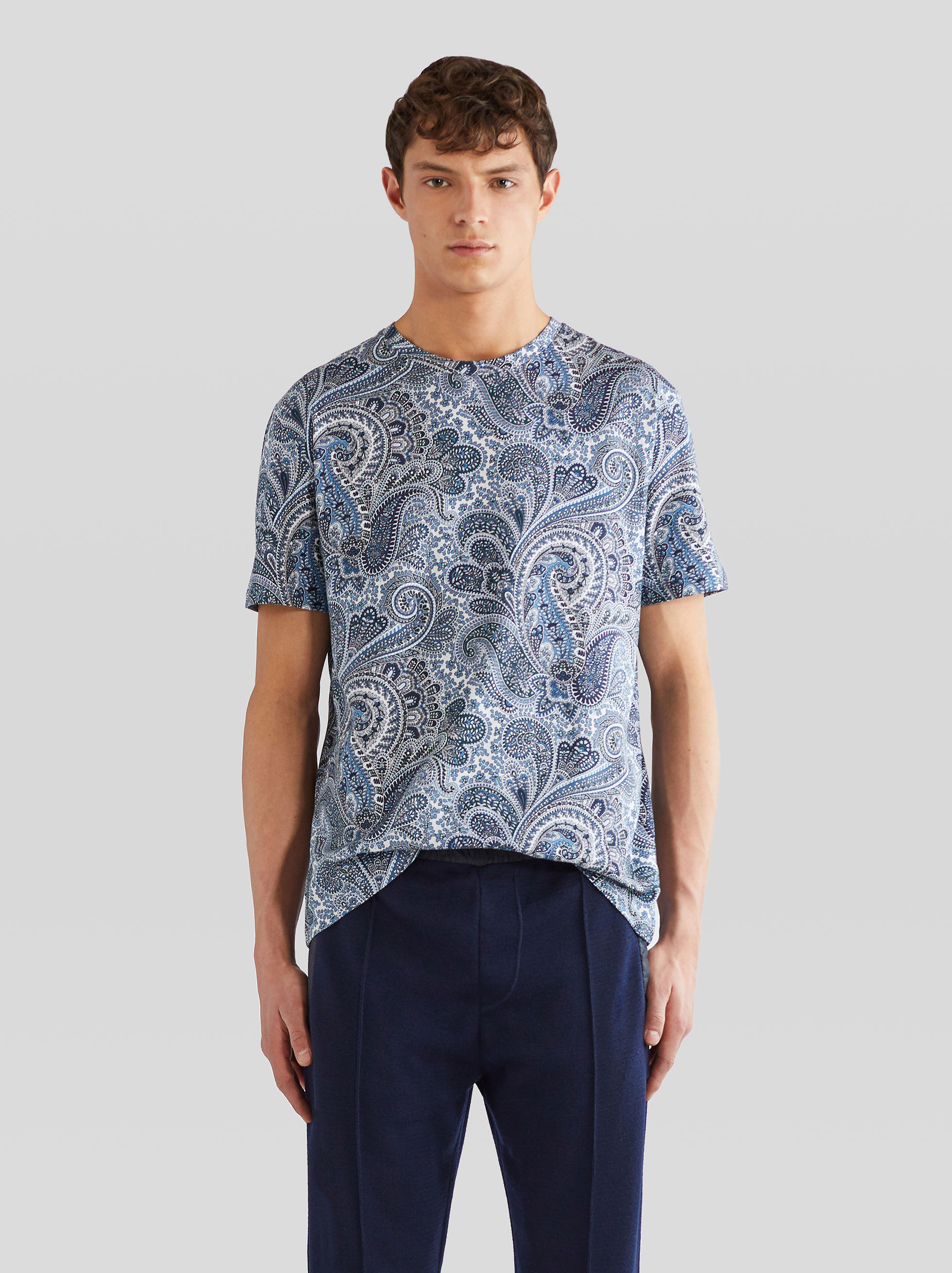 COTTON PAISLEY PRINT T-SHIRT