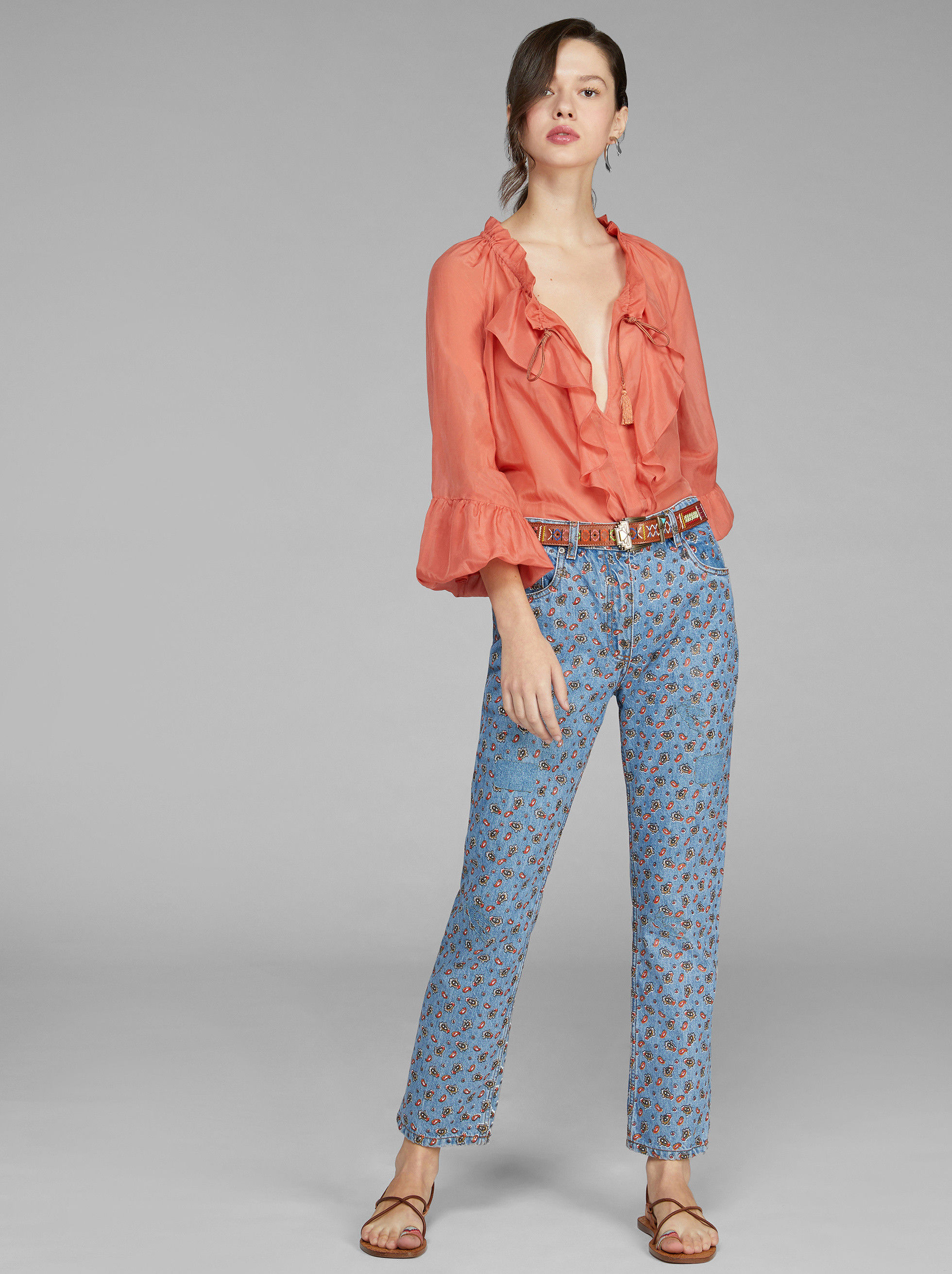 MICRO PAISLEY PRINT JEANS by Etro, available on etro.com Bella Hadid Pants SIMILAR PRODUCT