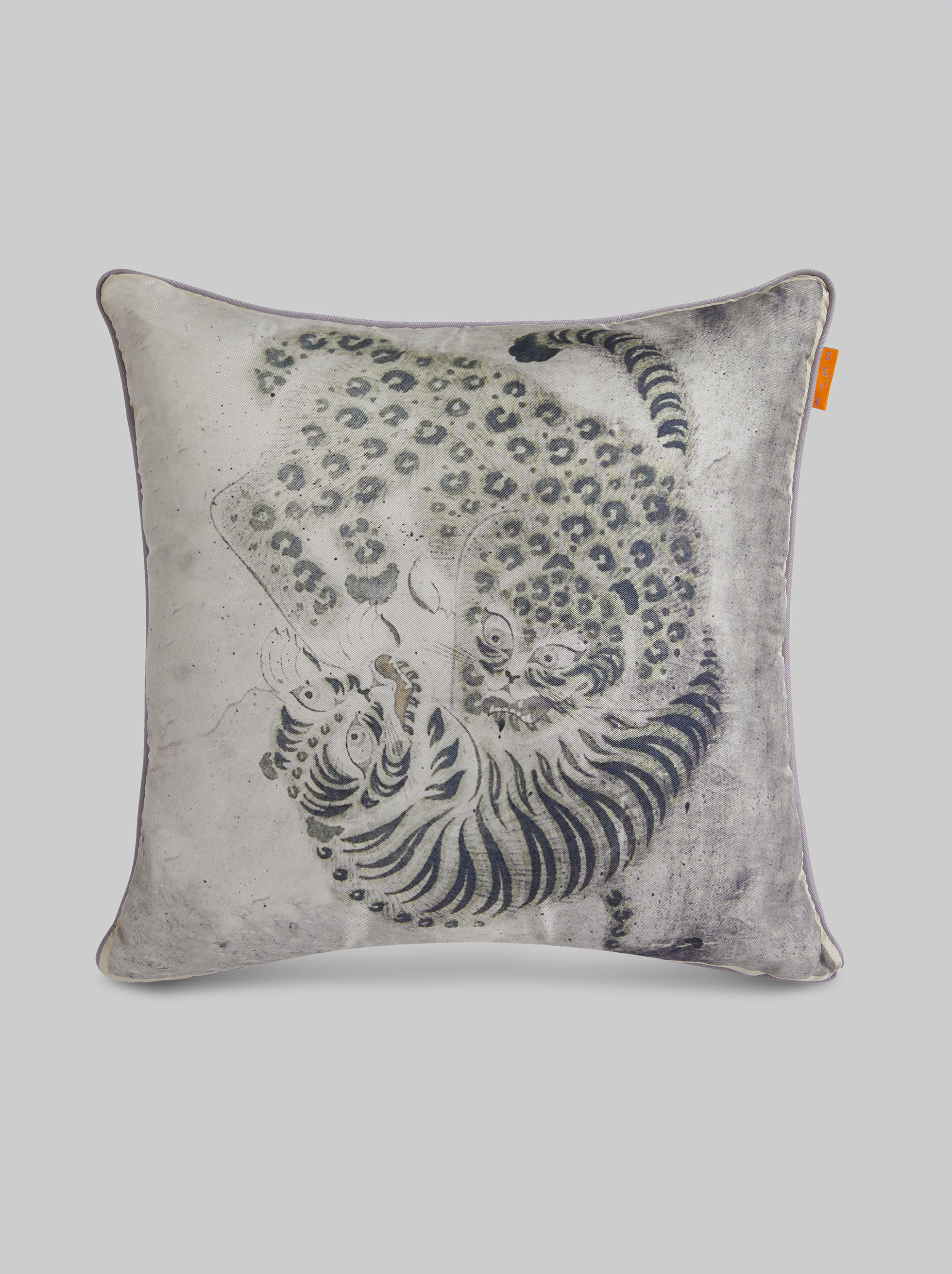 SILK PRINTED THROW PILLOW