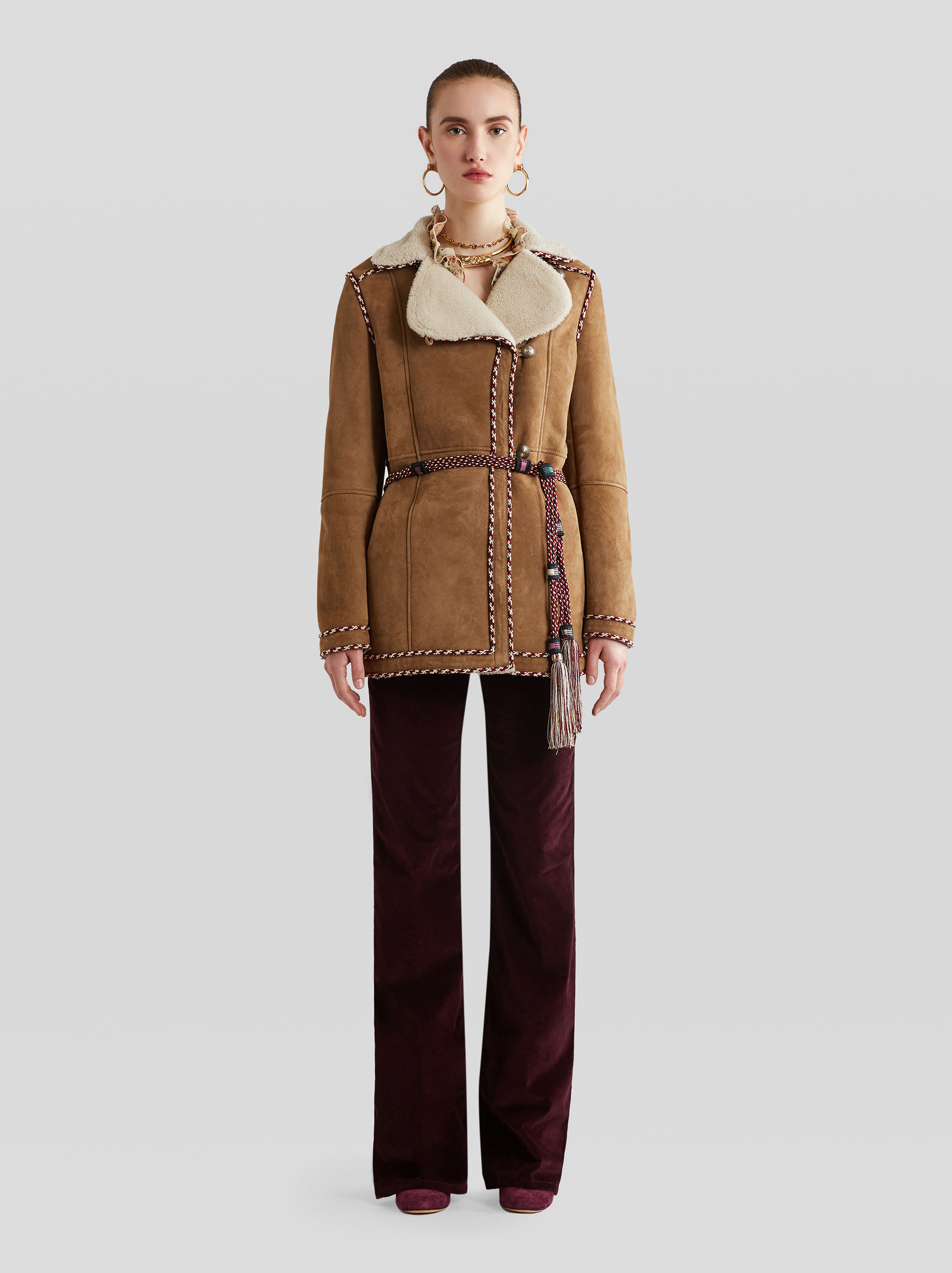 SHEEPSKIN JACKET WITH EMBROIDERY