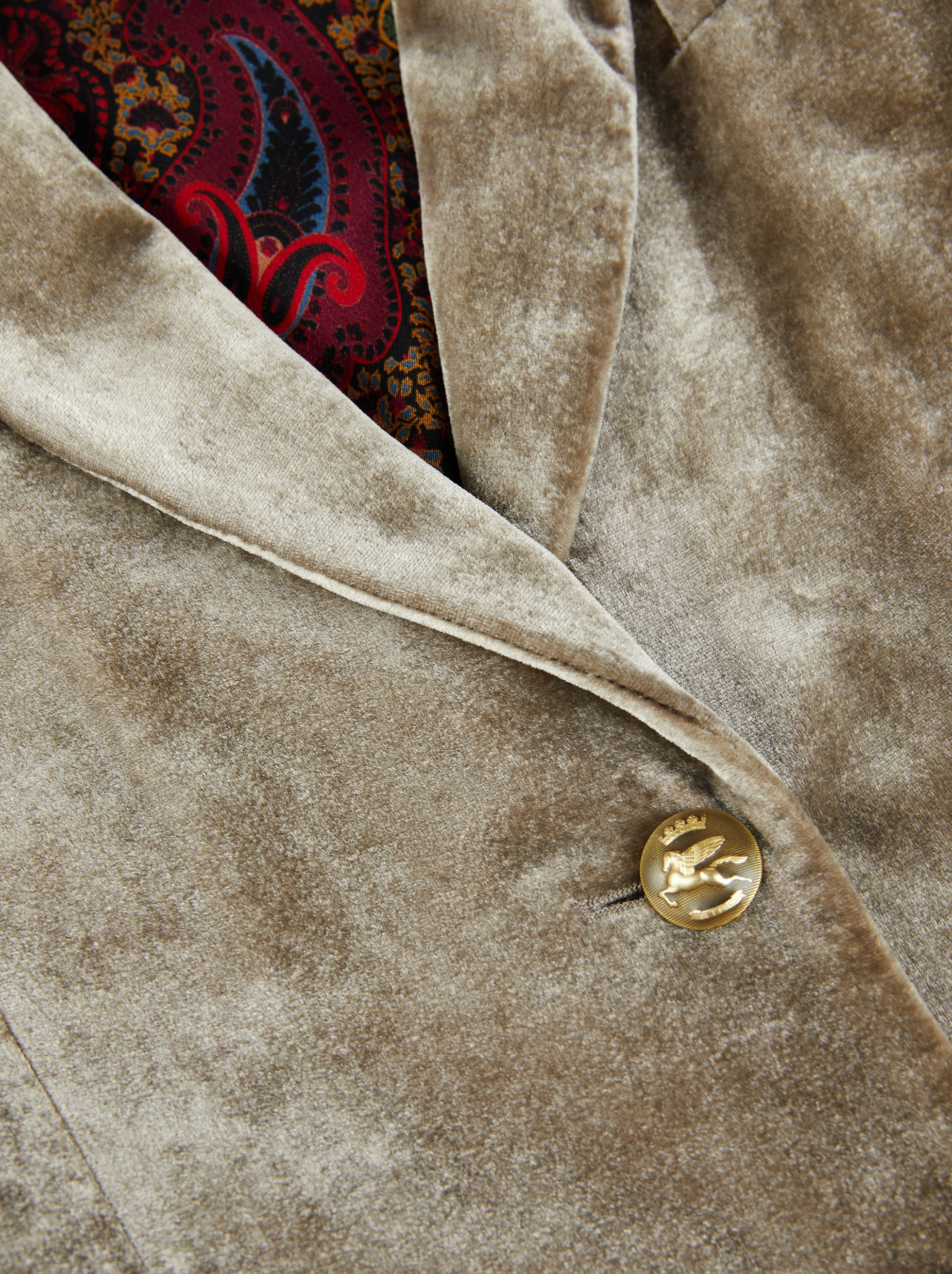 VELVET JACKET WITH PEGASO BUTTONS