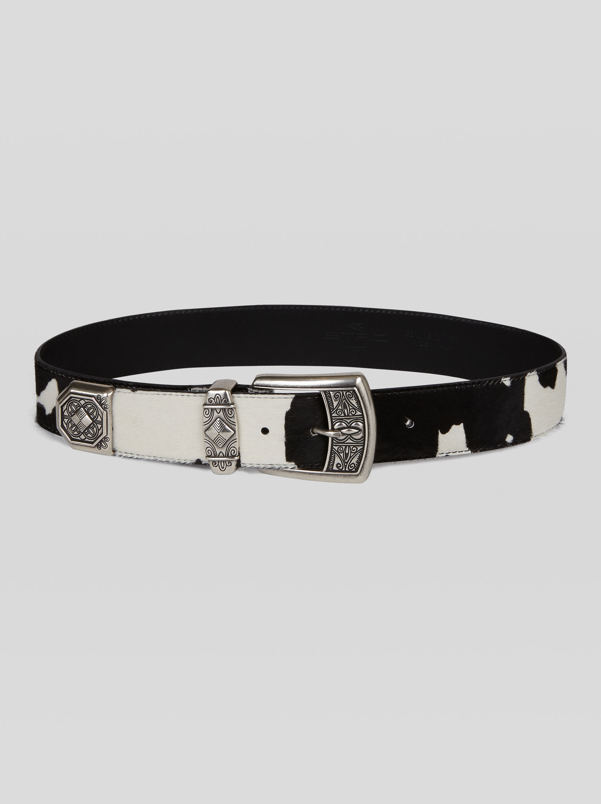 LEATHER BELT WITH ANIMAL PRINT