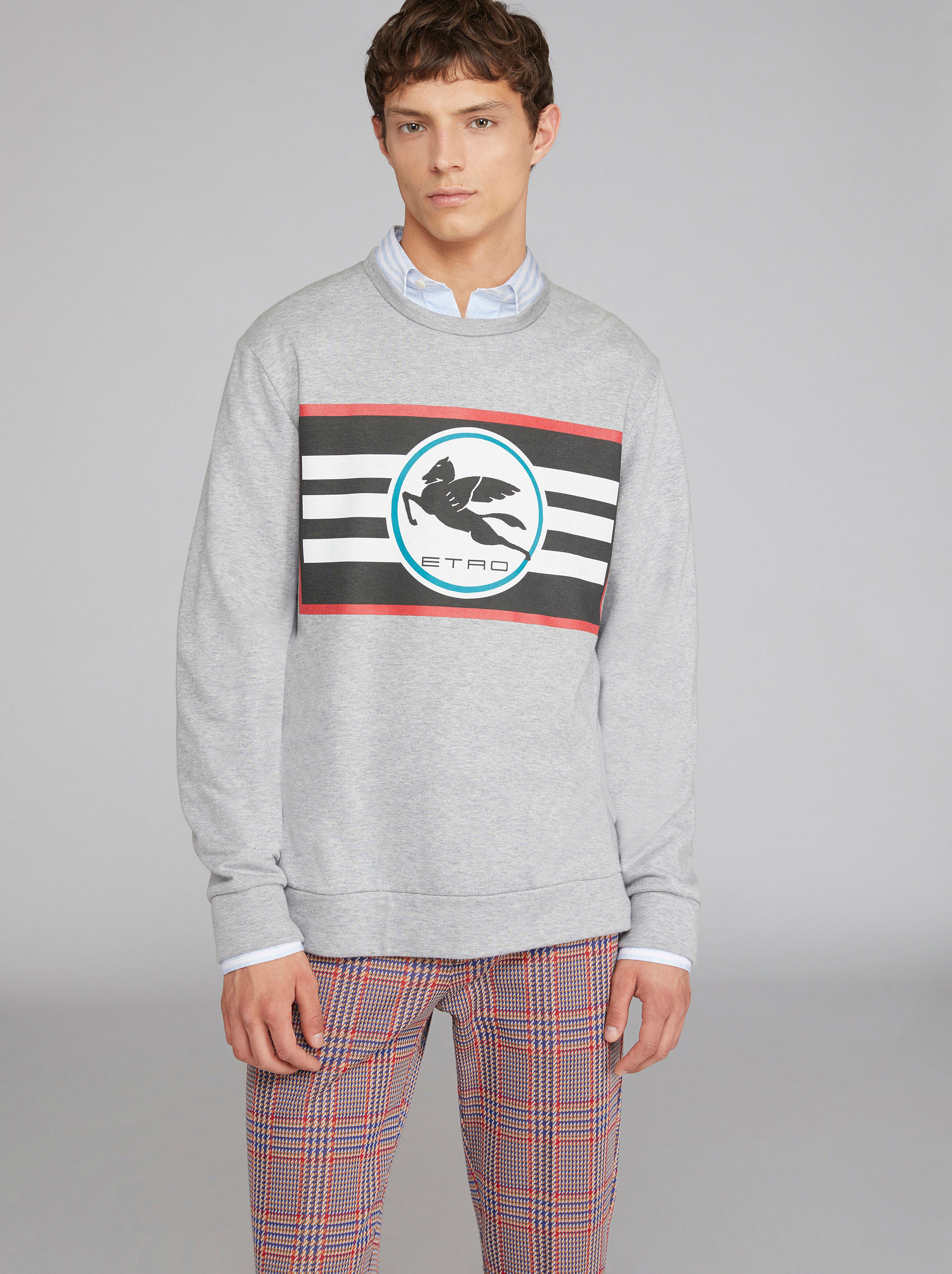 SWEATSHIRT WITH PRINTED PEGASO LOGO