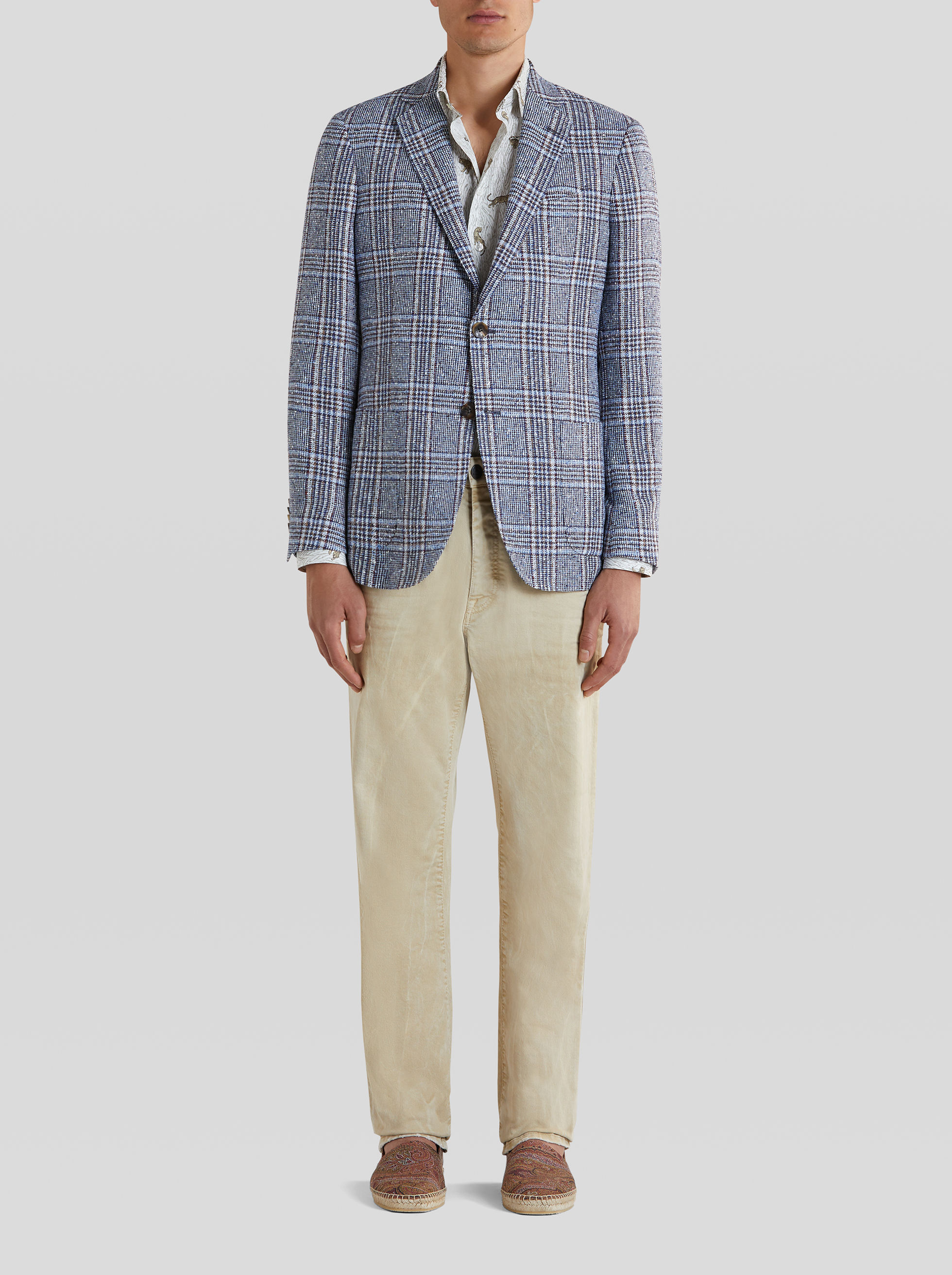 TAILORED PRINCE OF WALES CHECK JACKET