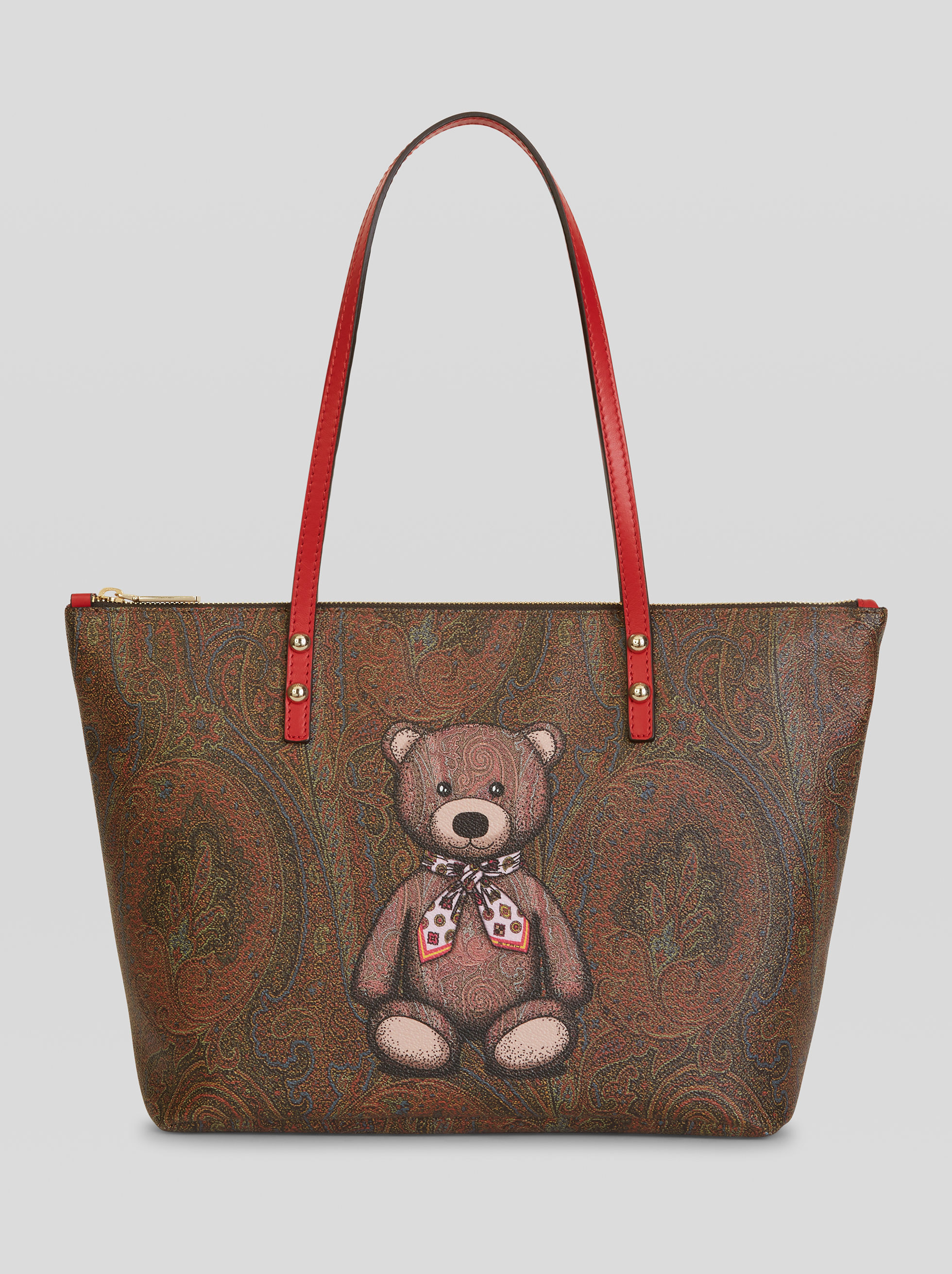TOY PRINT PAISLEY SHOPPING BAG