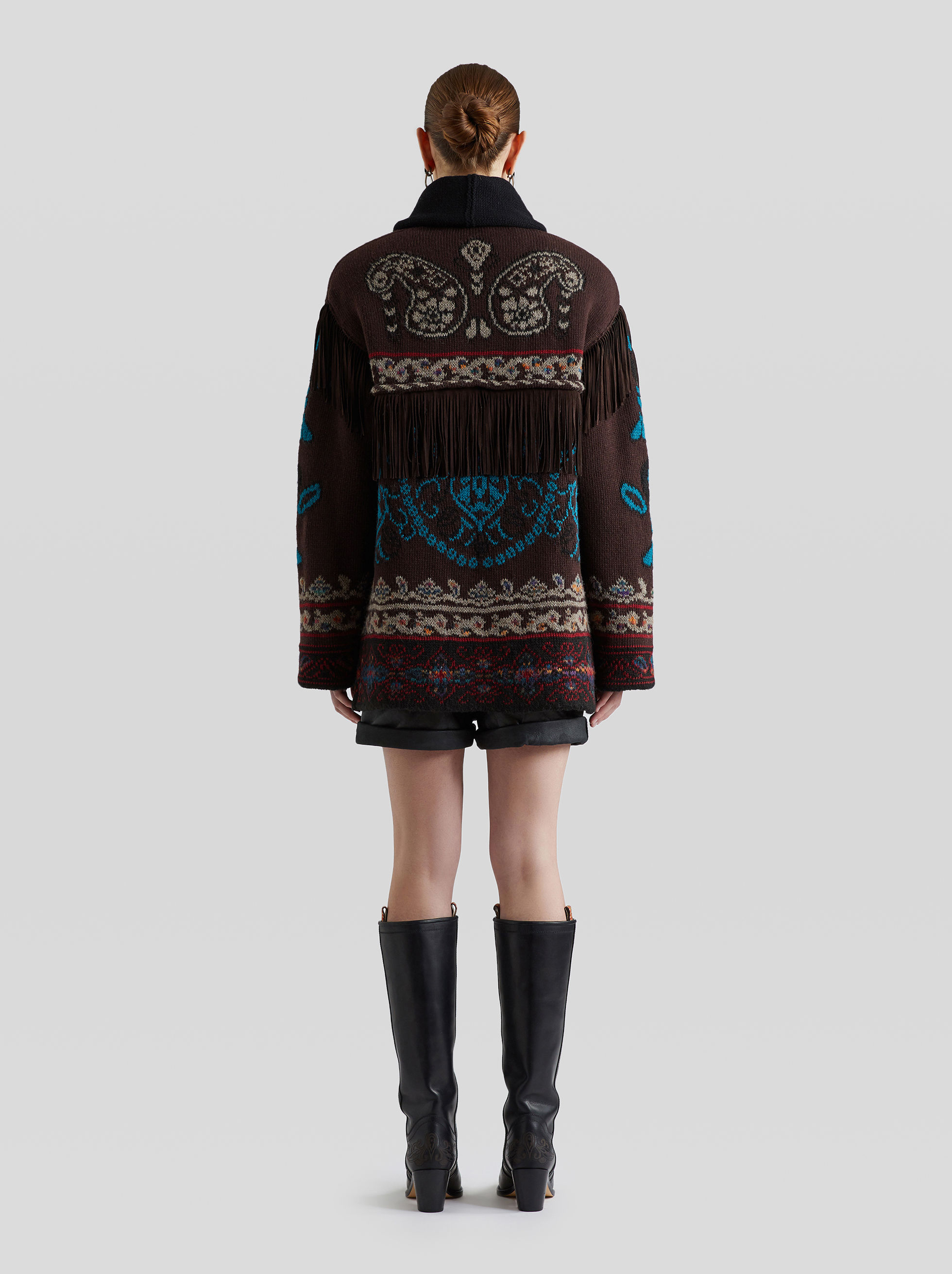 JACQUARD KNIT JACKET