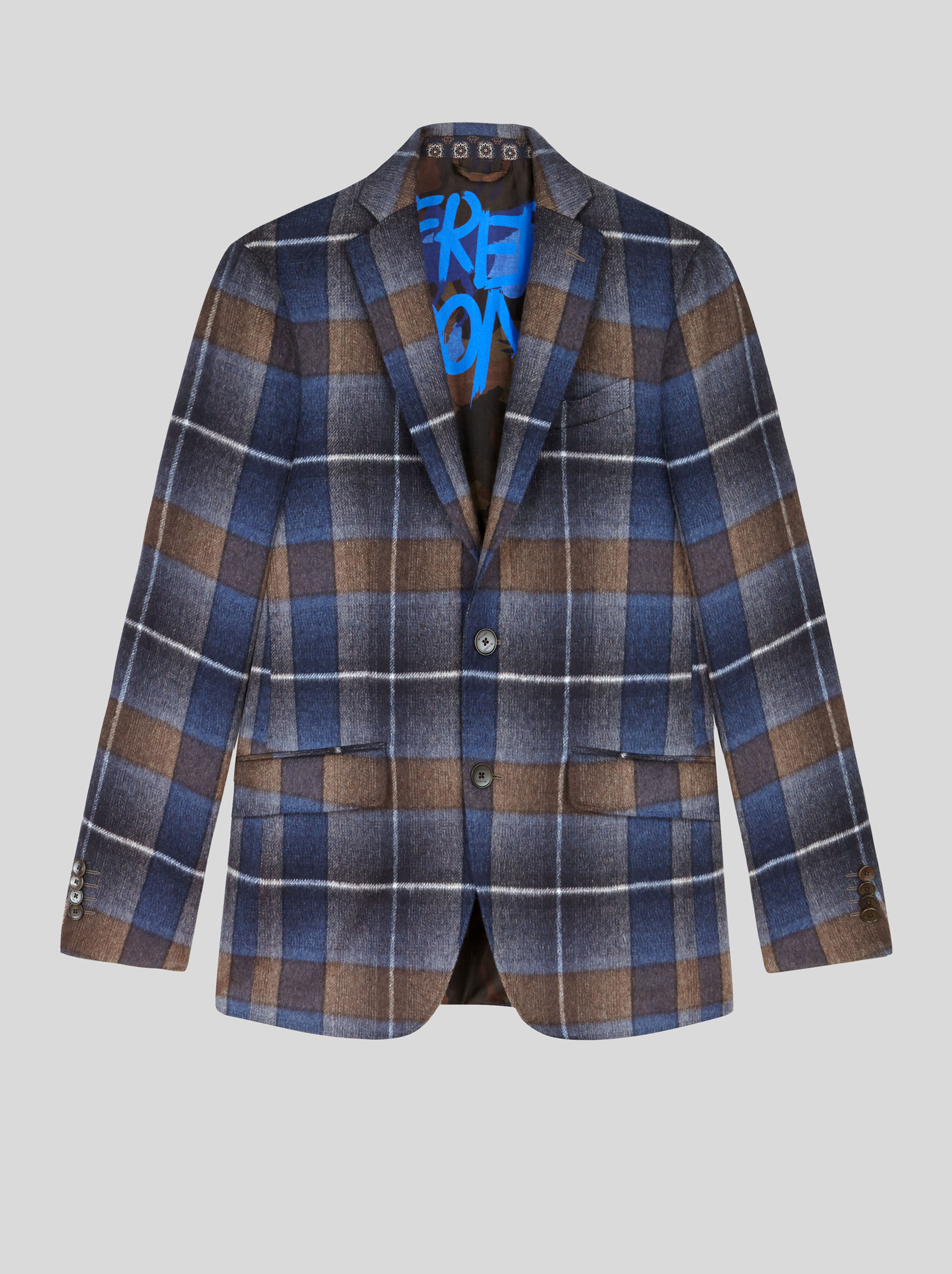 CHECK BENETROESSERE TAILORED JACKET