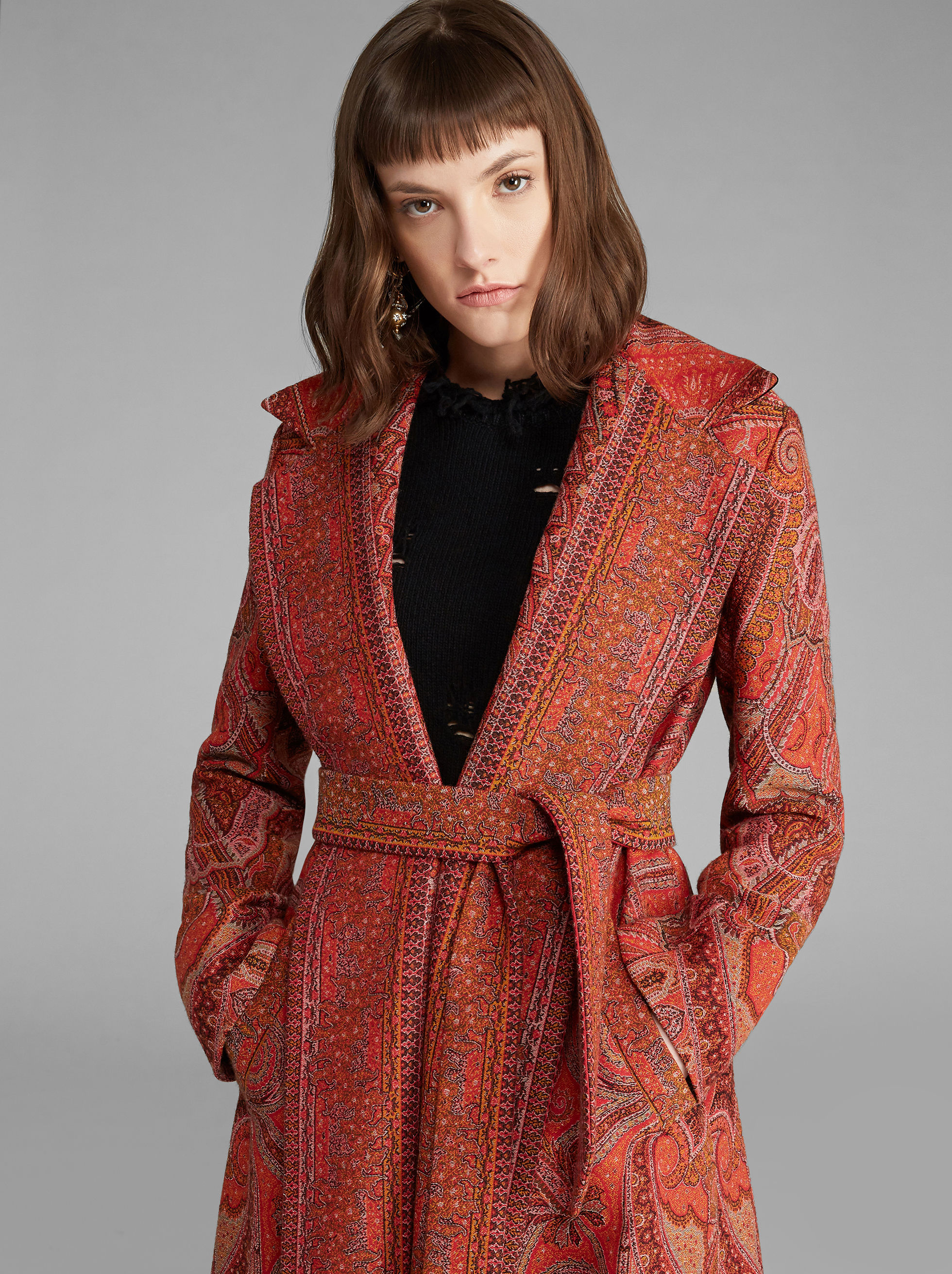 CAPPOTTO PAISLEY IN LANA JACQUARD