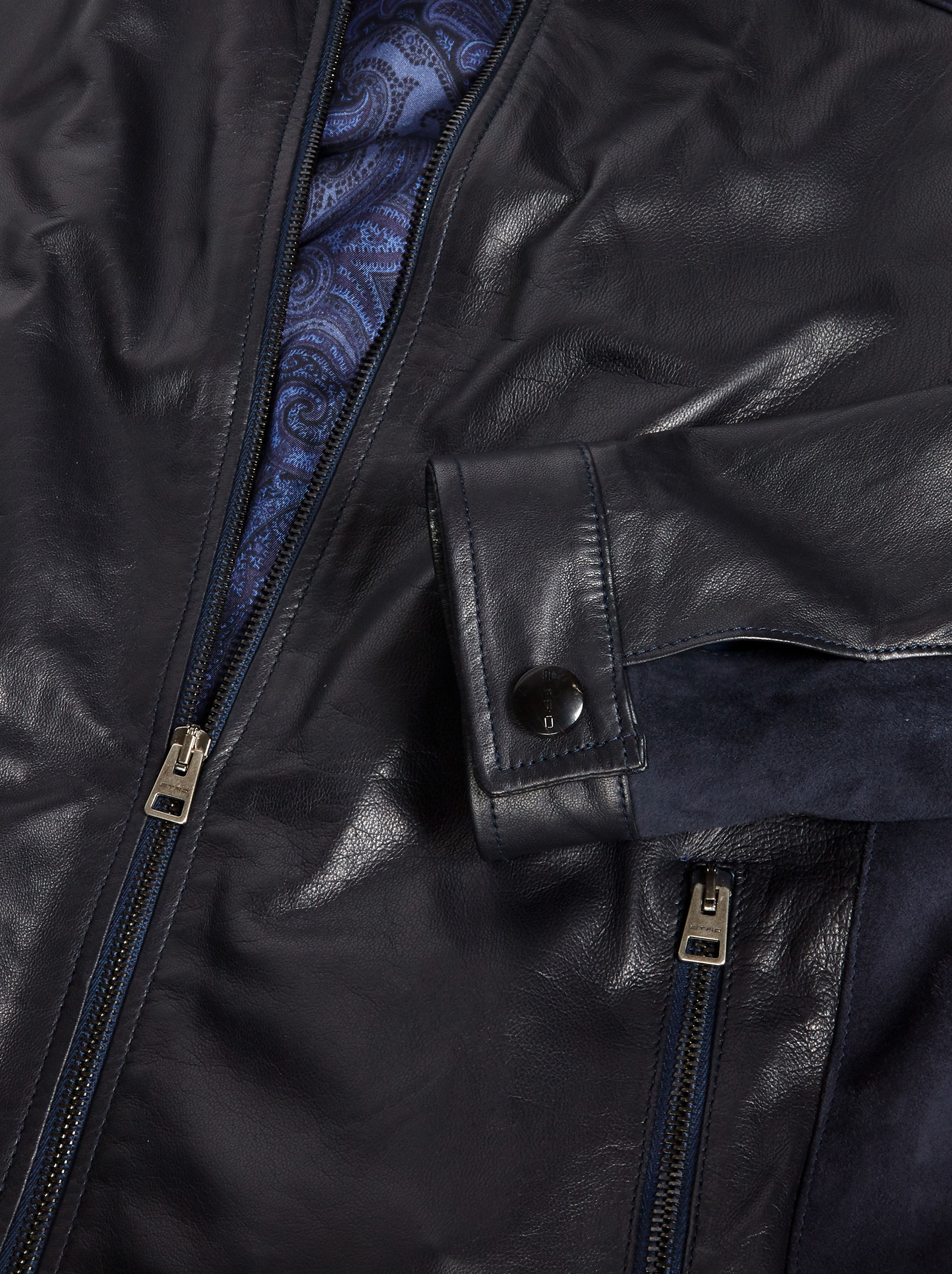 NAPPA LEATHER AND SUEDE BIKER JACKET