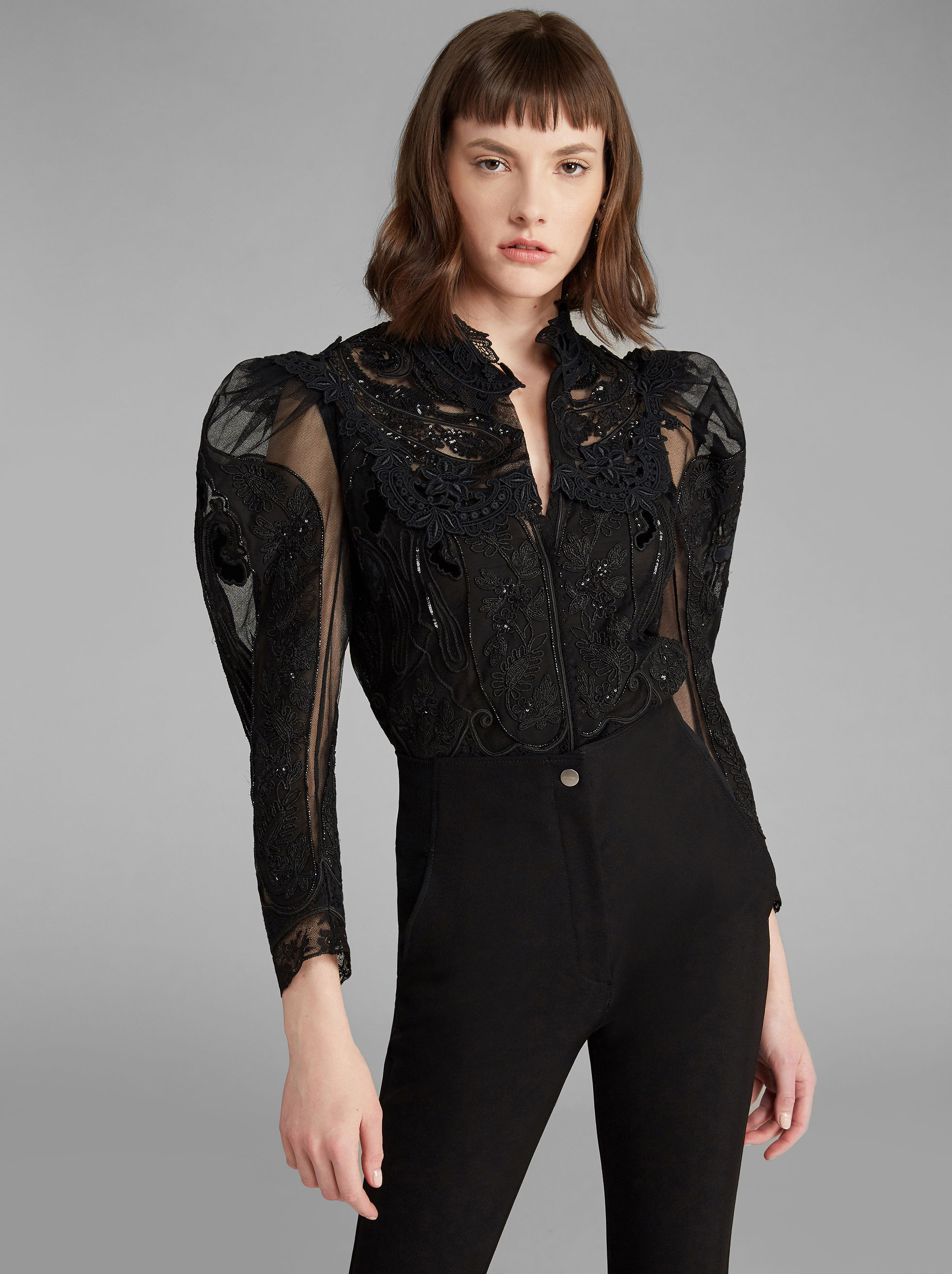 JACKET WITH LACE EMBROIDERIES