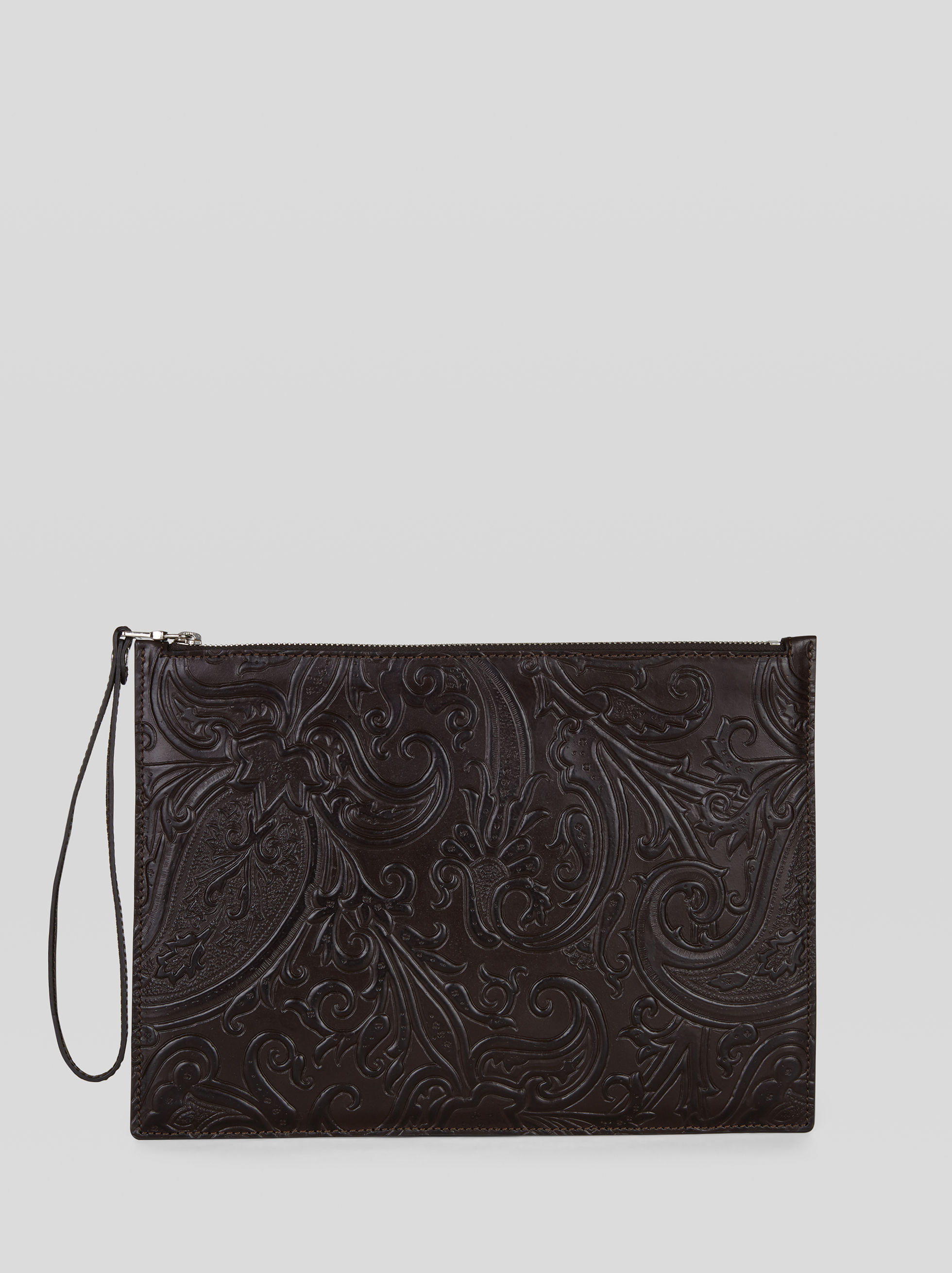 PAISLEY PRINT LEATHER TABLET HOLDER