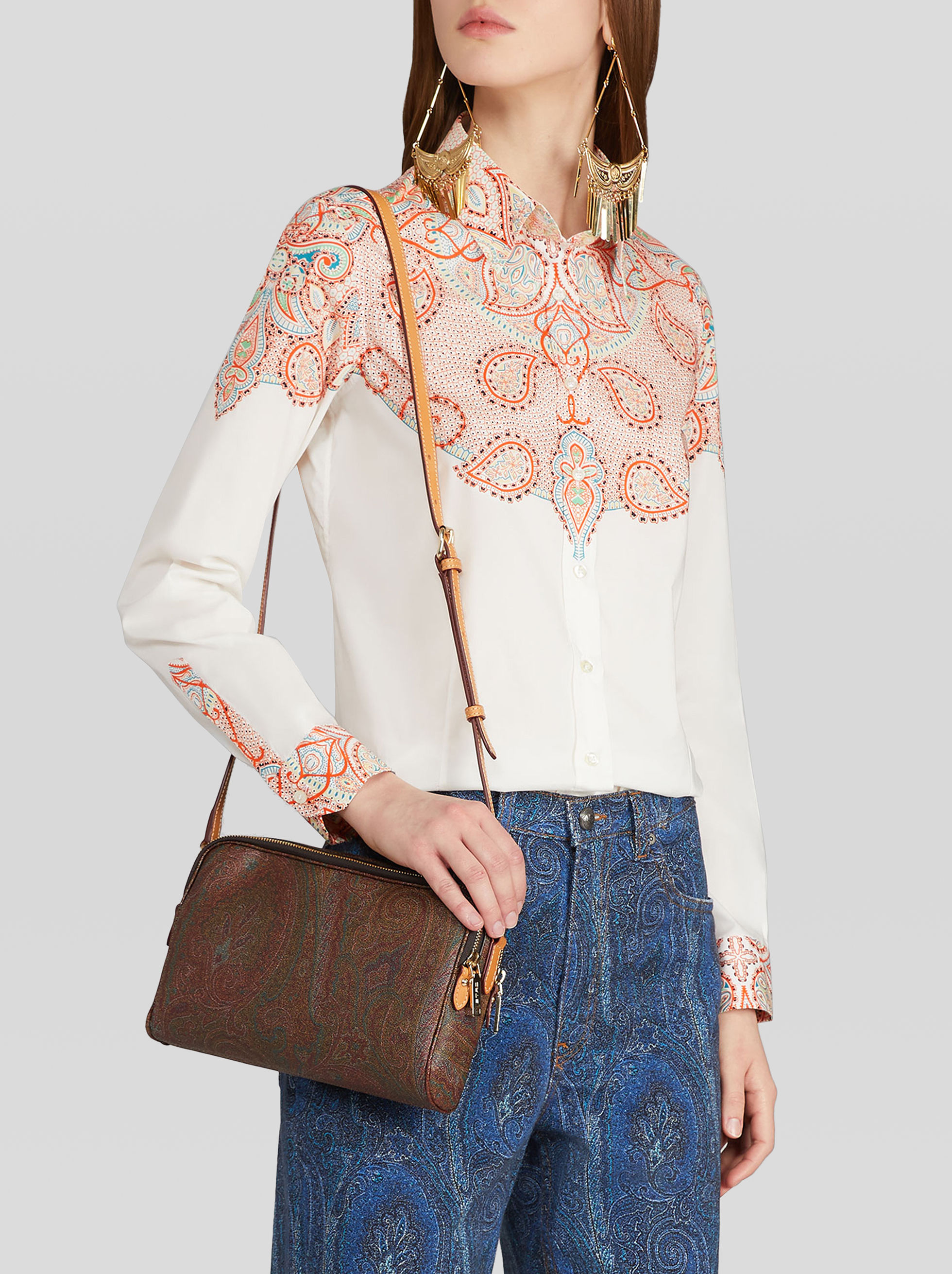 SHOULDER BAG IN PAISLEY FABRIC