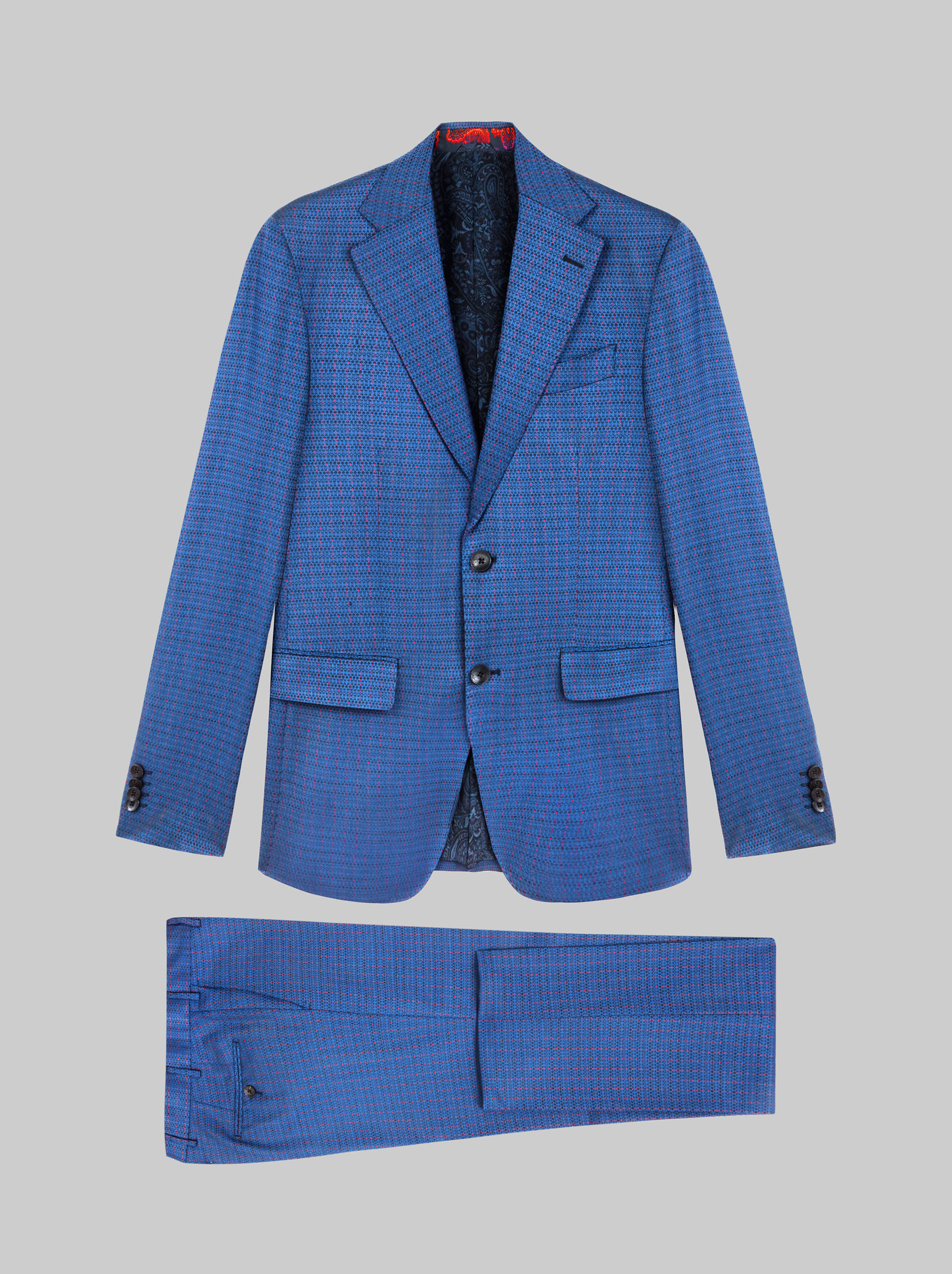WOOL SUIT WITH LOGO