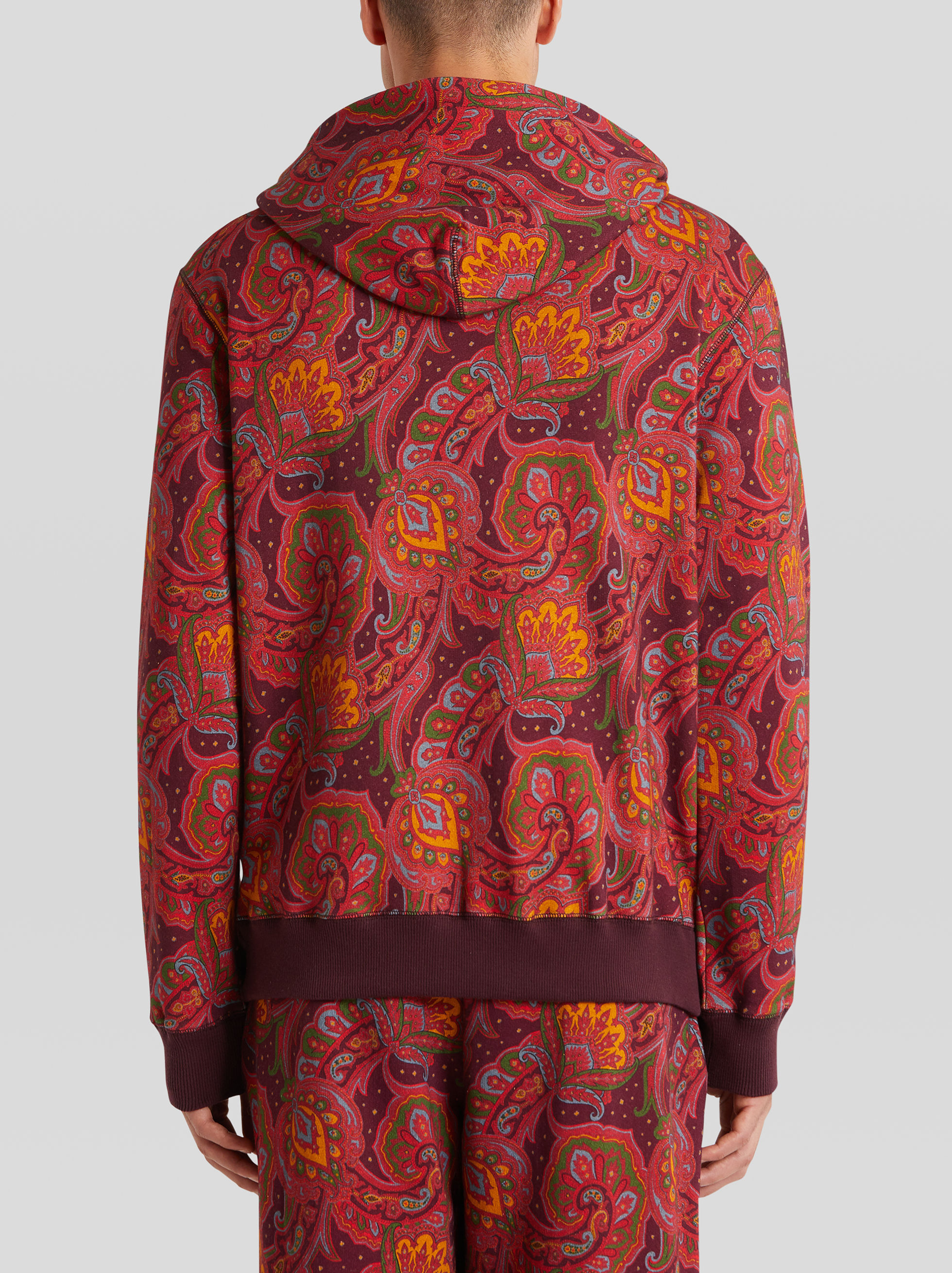 COTTON SWEATSHIRT WITH PAISLEY PATTERN