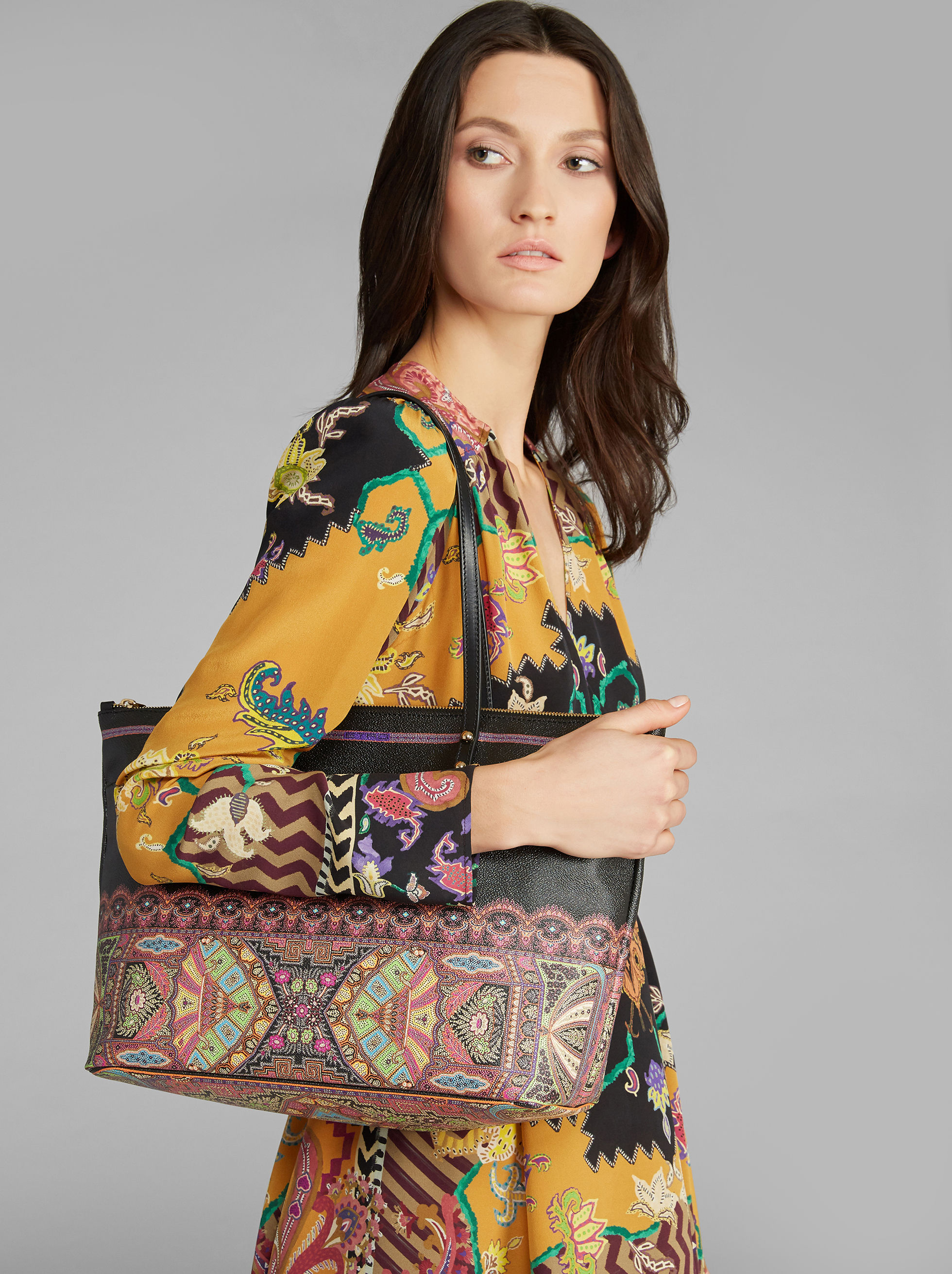 PAISLEY-PRINT SHOPPER BAG