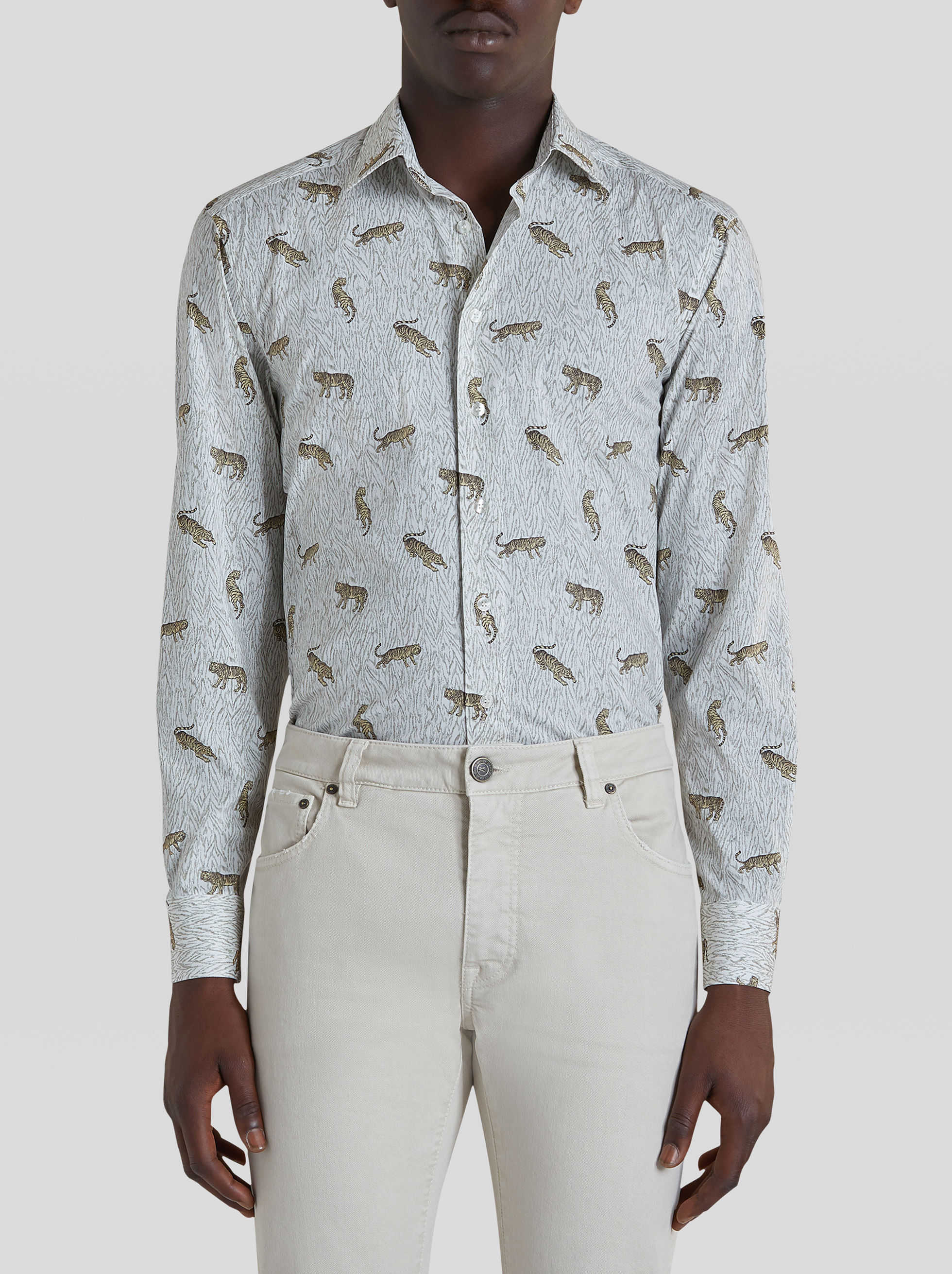 COTTON SHIRT WITH ANIMAL PRINT