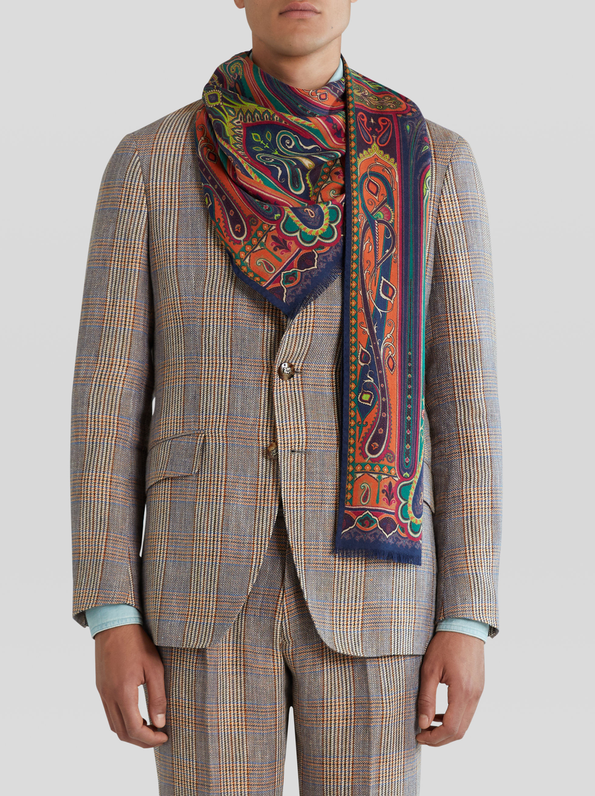 CASHMERE AND SILK PAISLEY SCARF