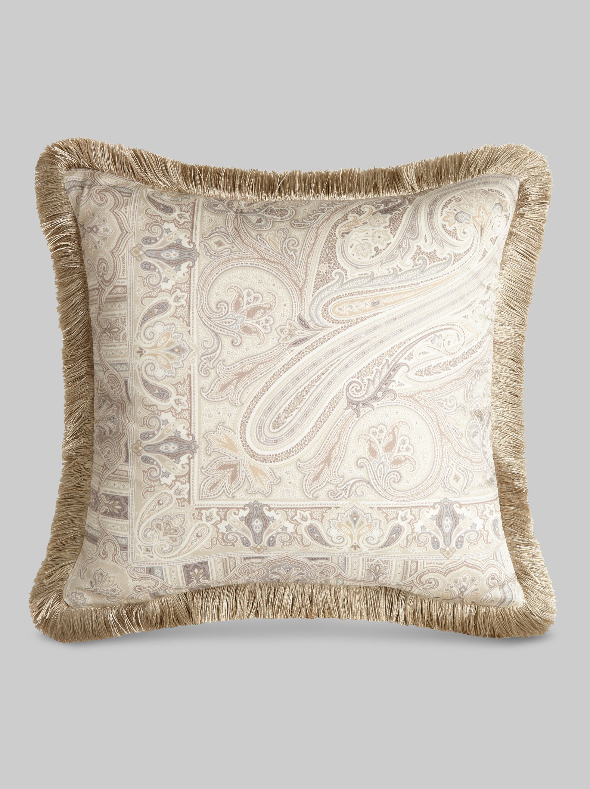 SATIN CUSHION WITH PAISLEY PATTERNS