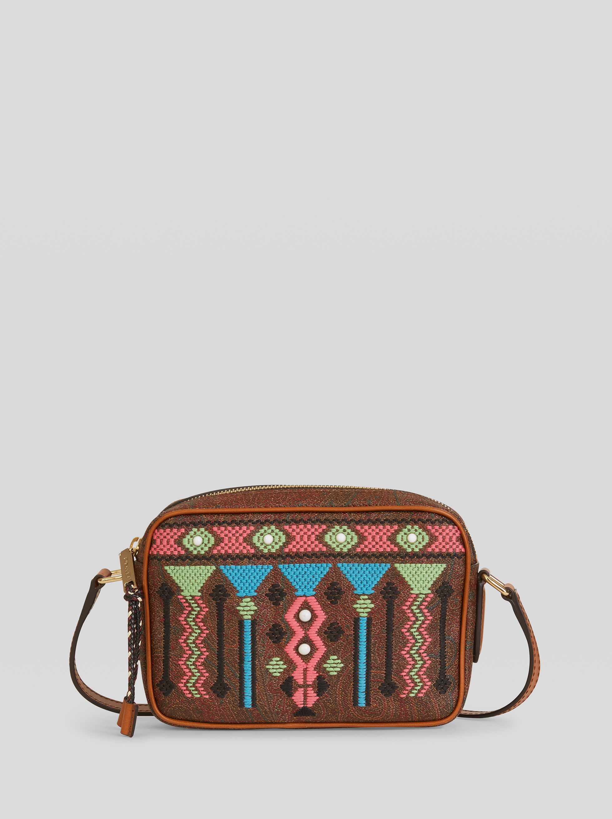 GEOMETRIC EMBROIDERY PAISLEY BAG