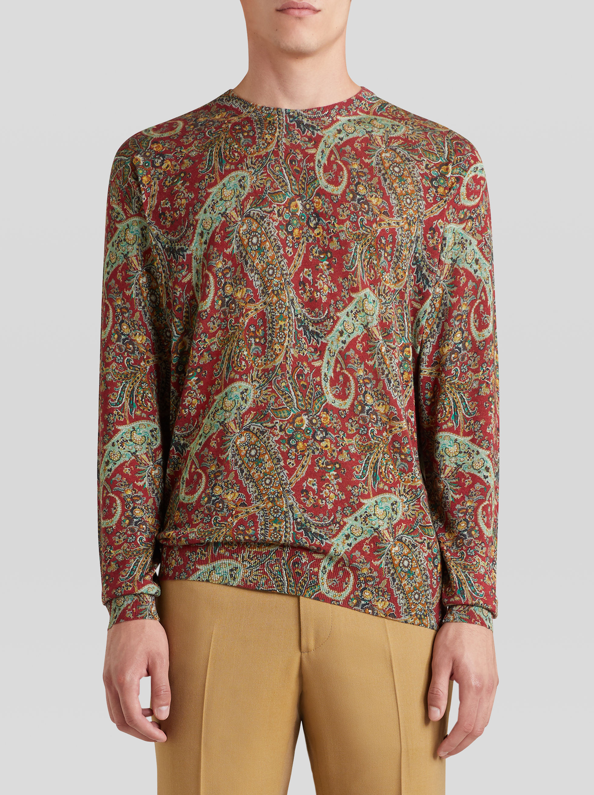 PAISLEY PRINT CASHMERE AND SILK JUMPER
