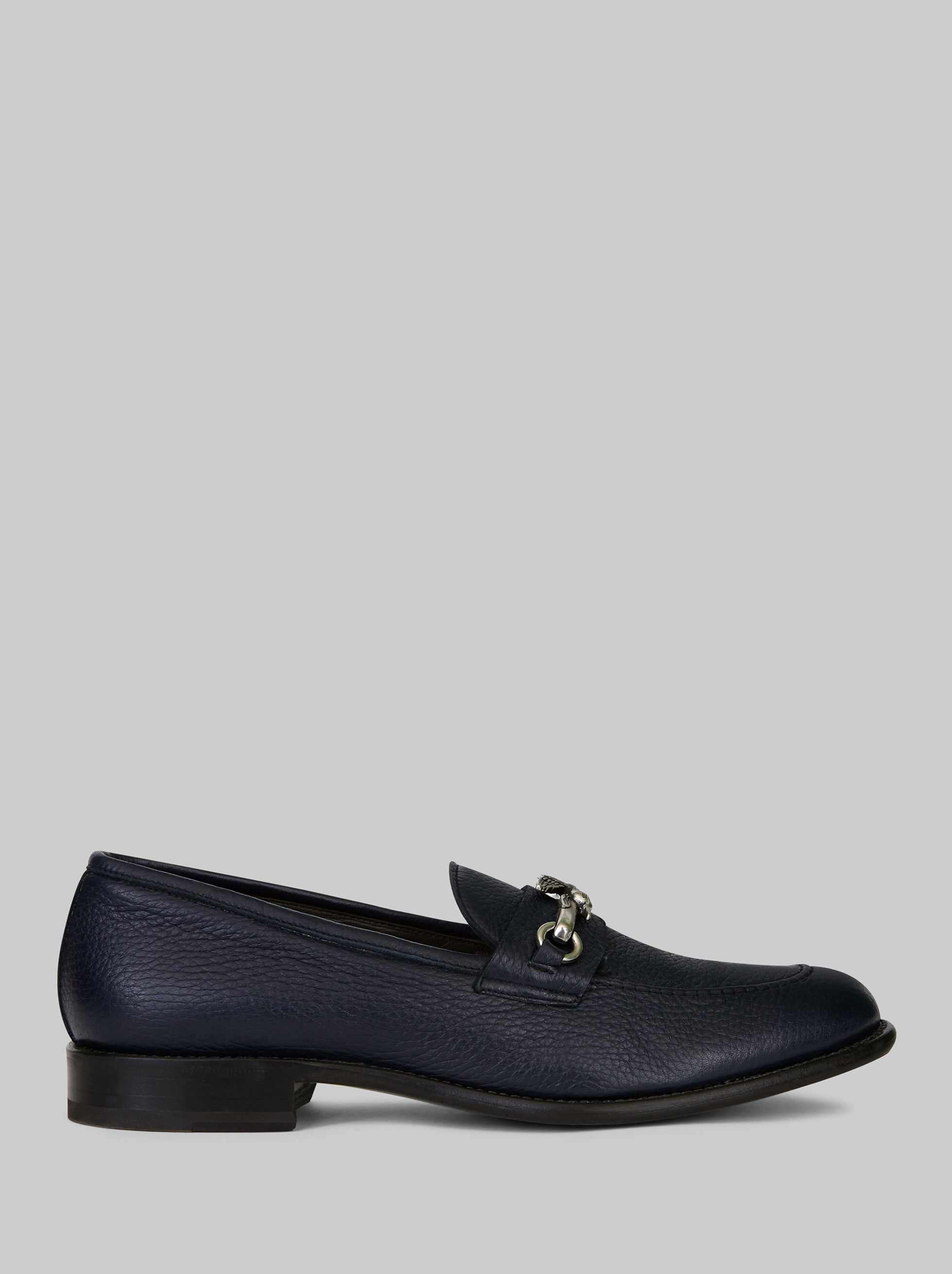 LEATHER LOAFERS WITH PEGASO