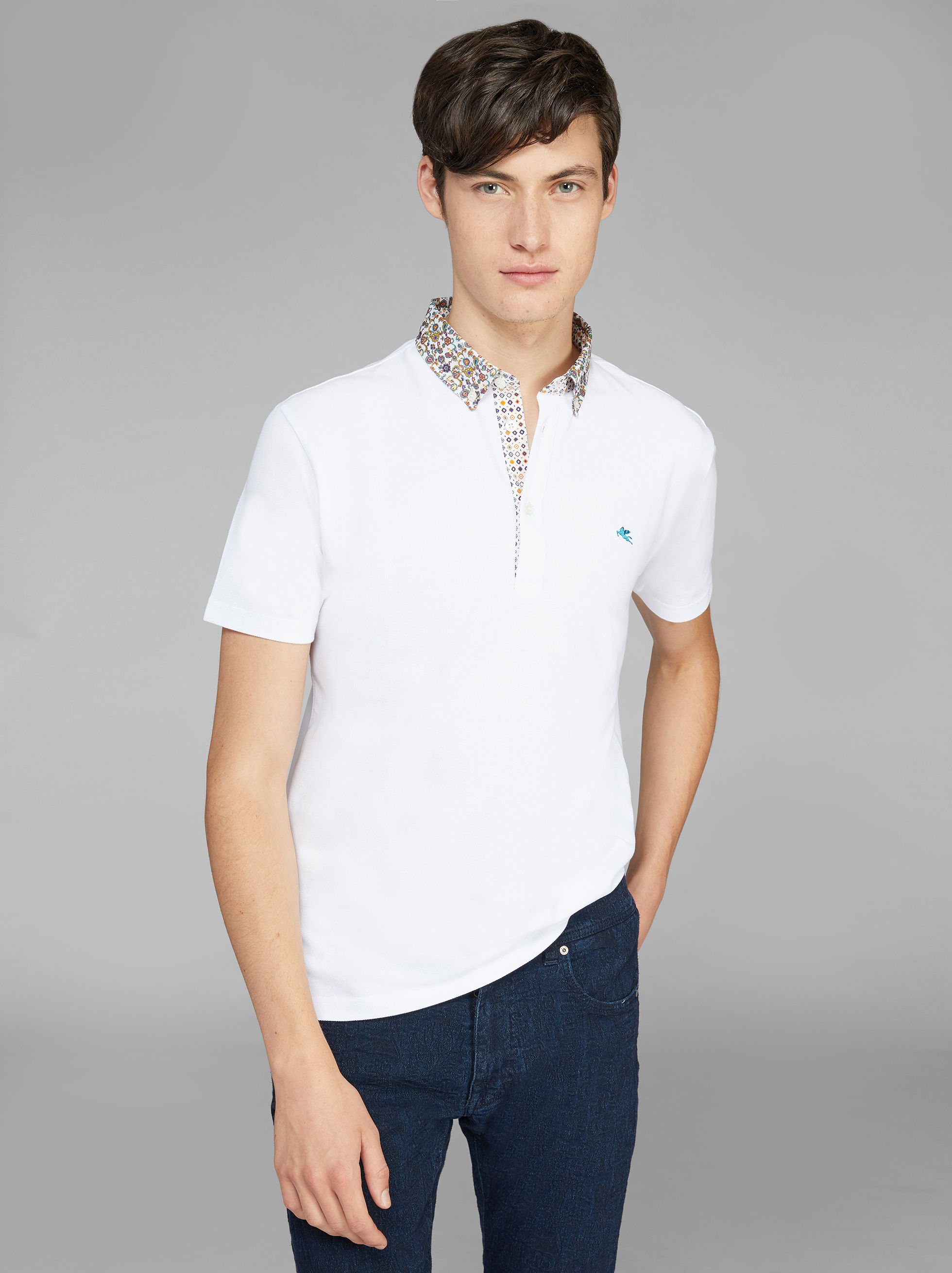 POLO SHIRT WITH SHIRT INSERTS