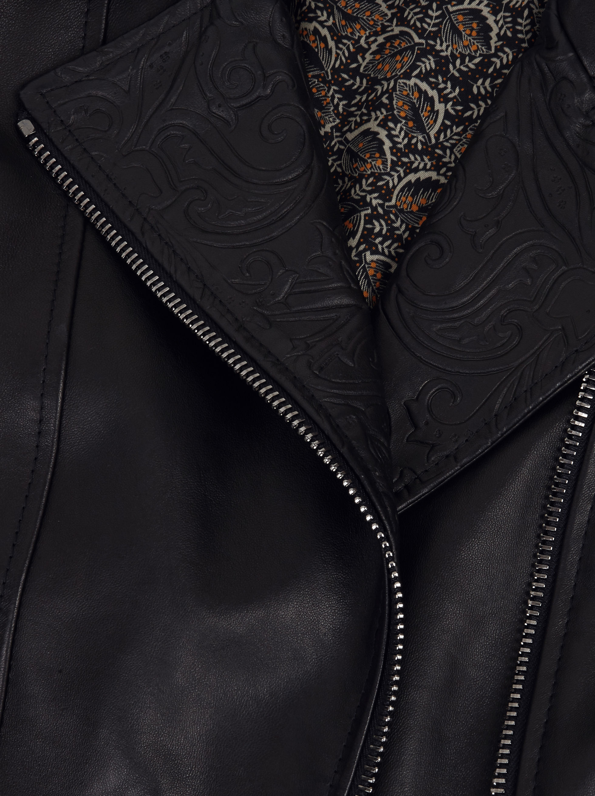 BIKER JACKET WITH PAISLEY PATTERNS