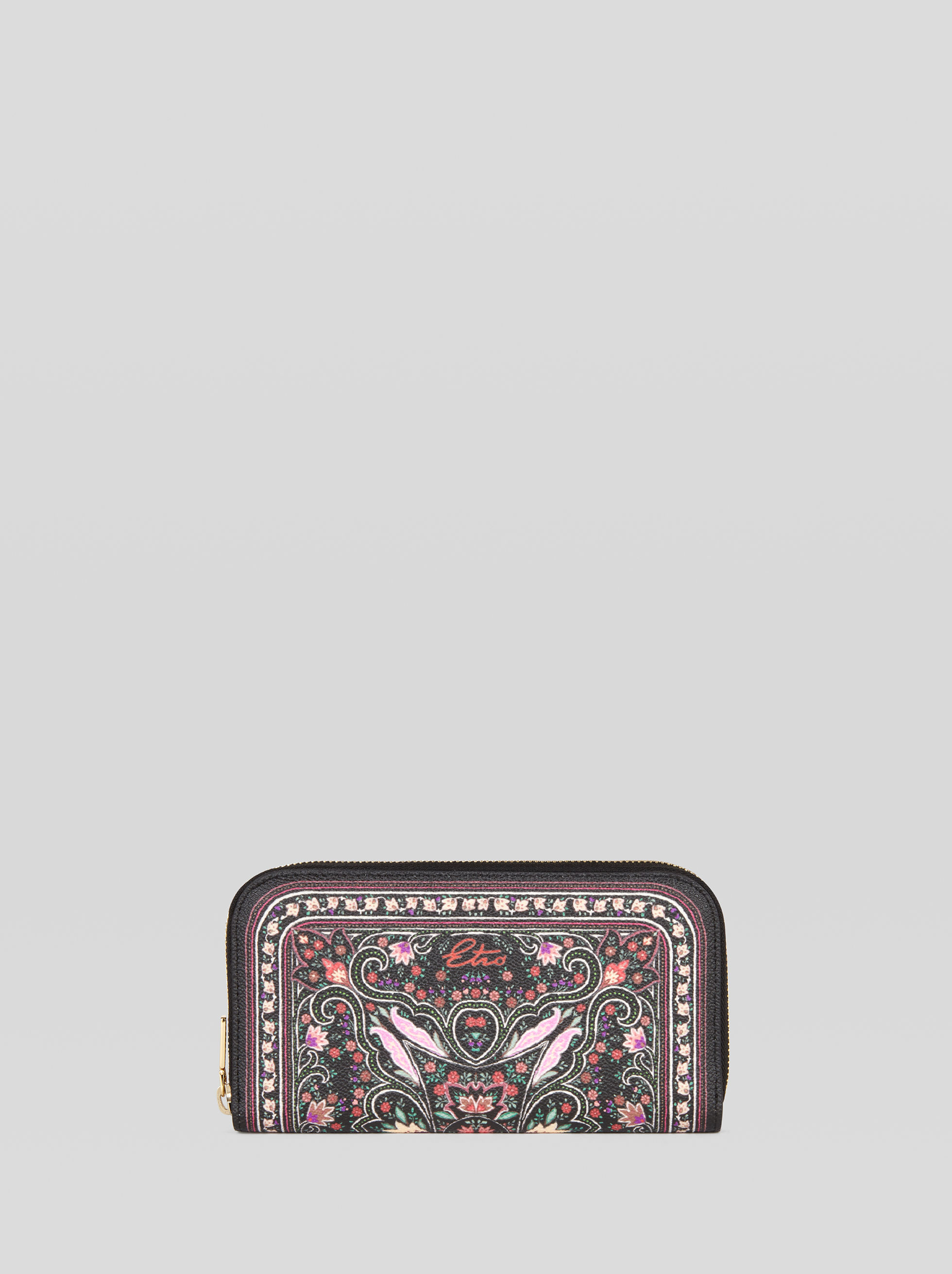 LARGE PURSE WITH FLORAL PAISLEY PRINT