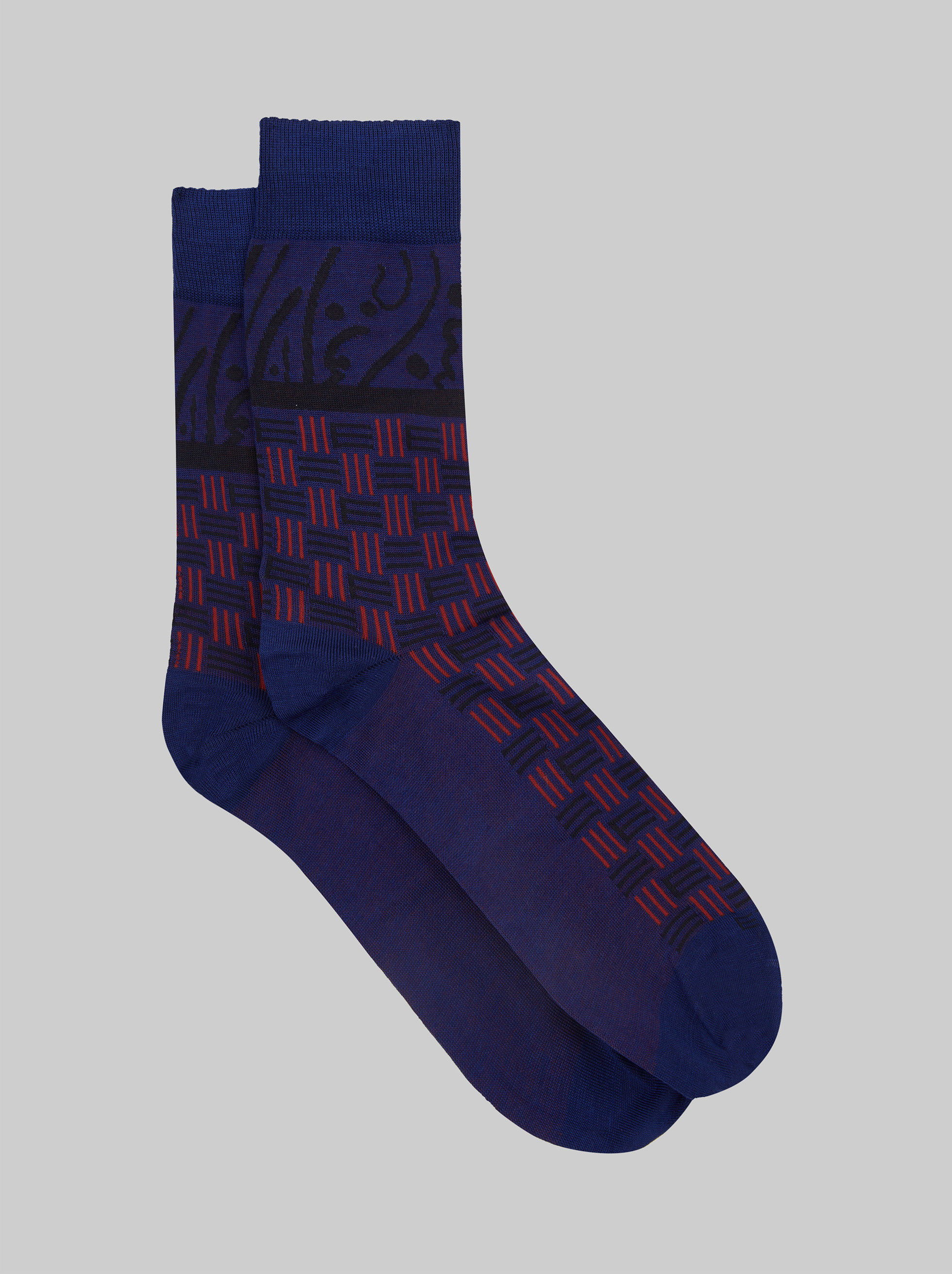 JACQUARD SOCKS WITH LOGO