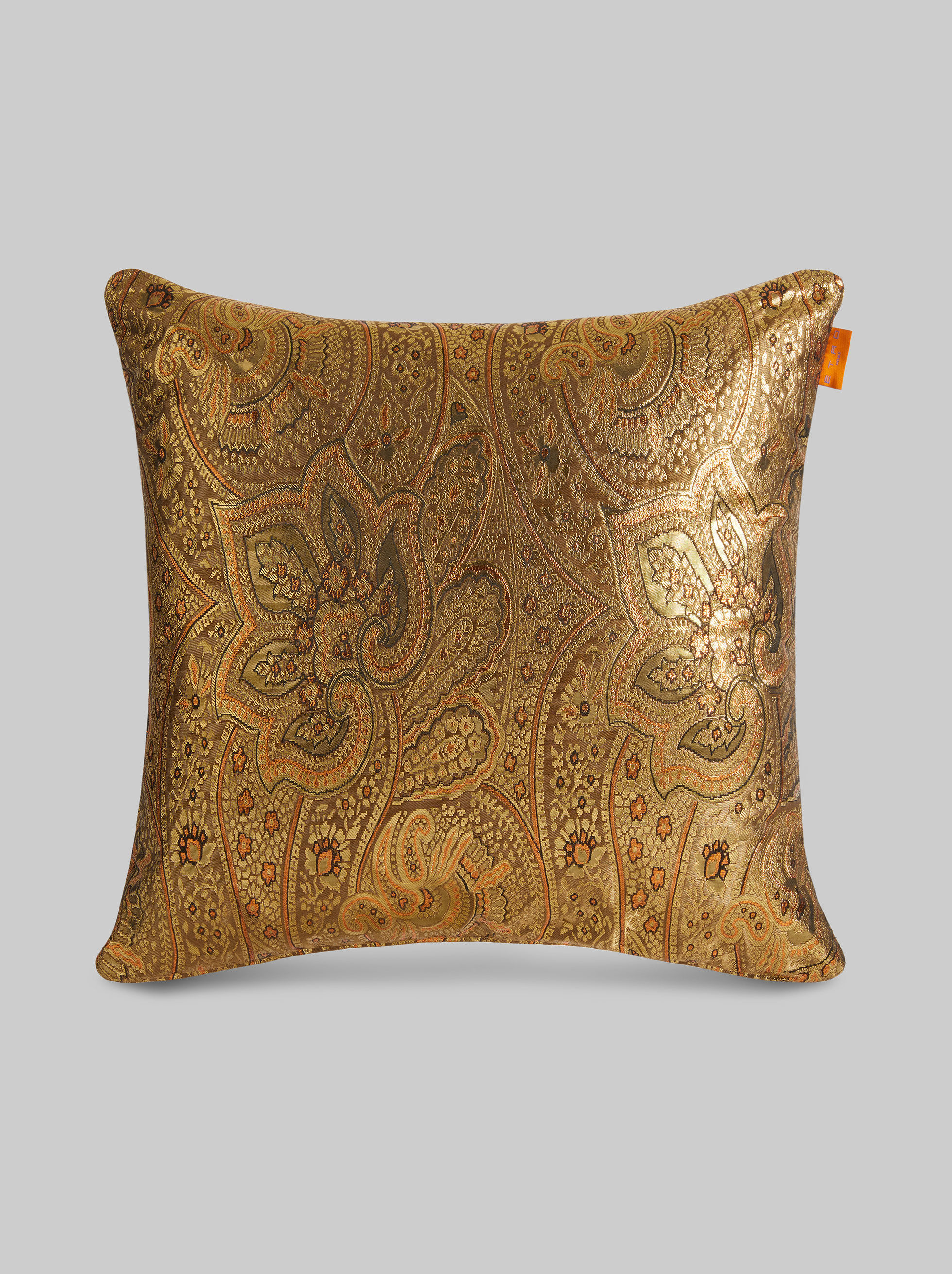 JACQUARD THROW PILLOW WITH LUREX EMBROIDERY