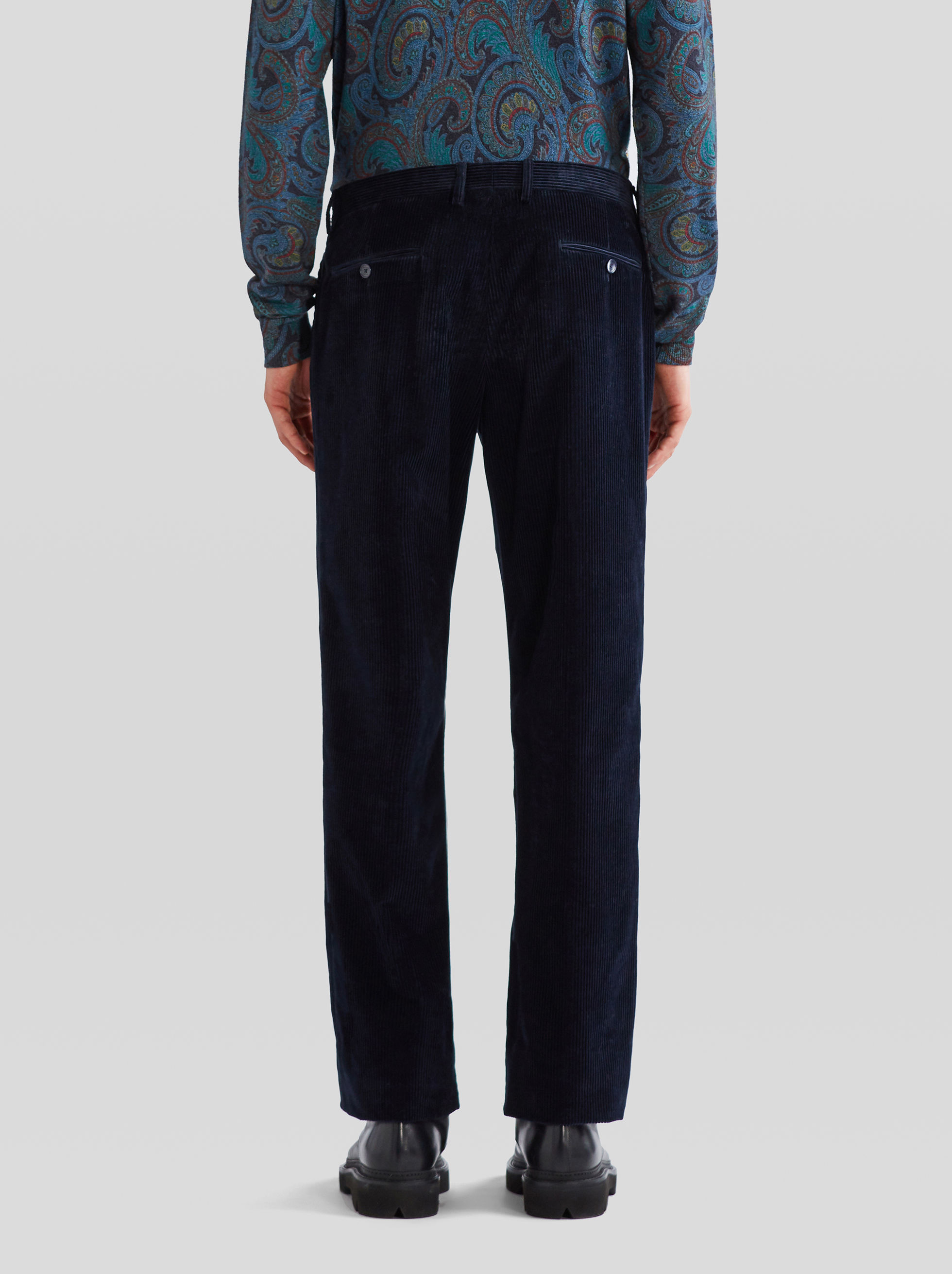 RIBBED VELVET TROUSERS