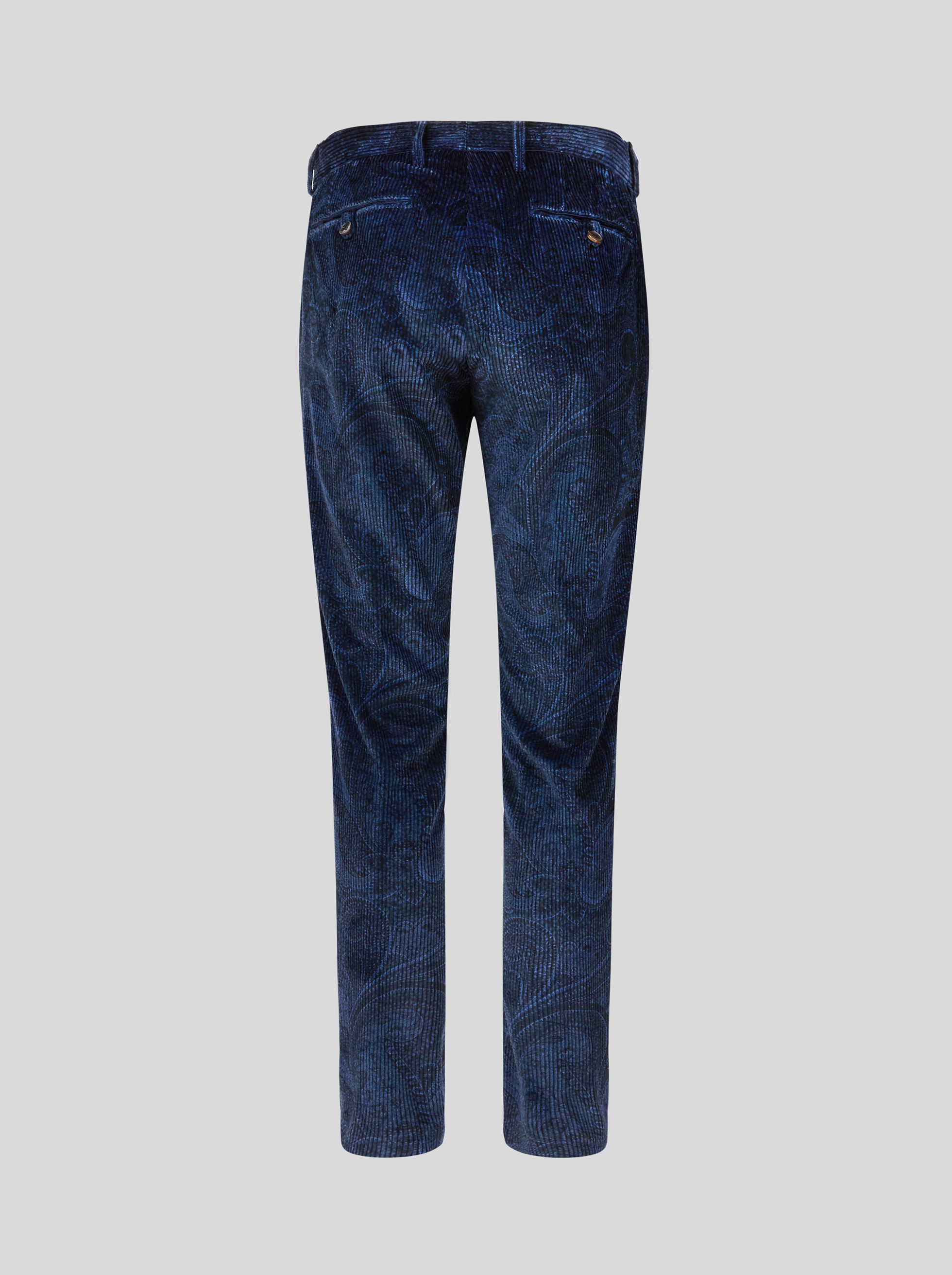 PANTALONI CASUAL IN VELLUTO PAISLEY