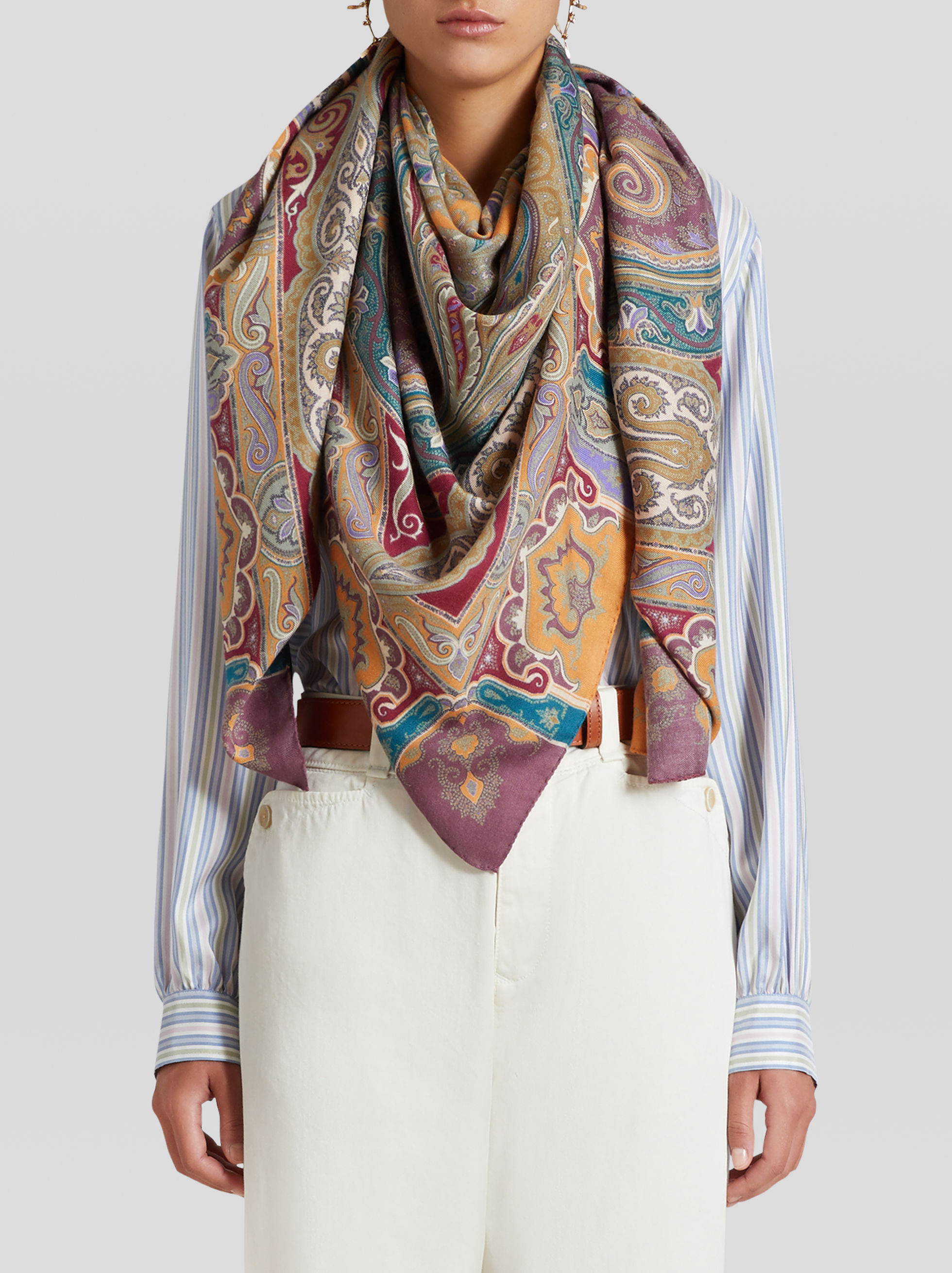 PAISLEY CASHMERE AND SILK SHAWL