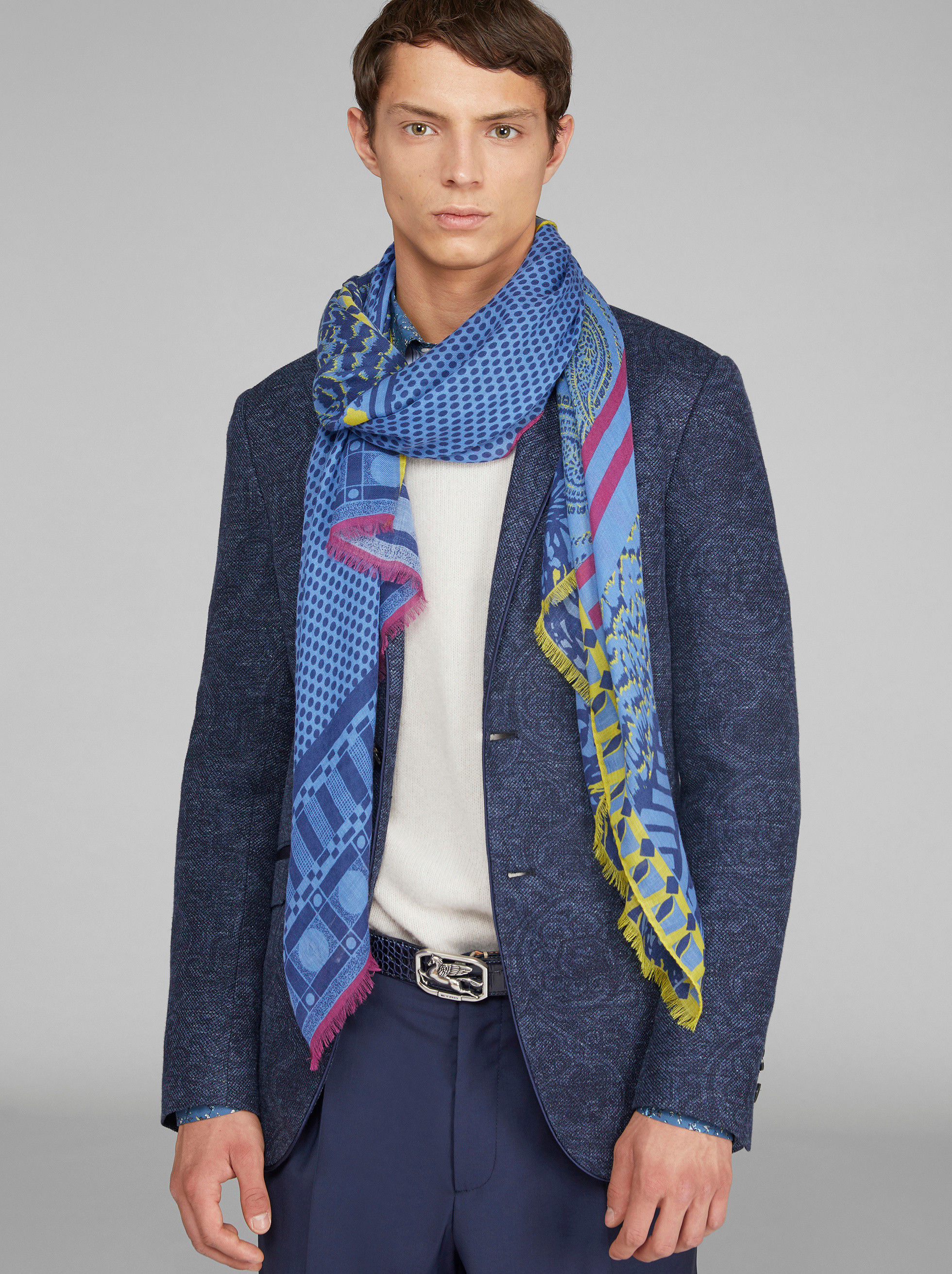 PATCHWORK PRINT CASHMERE SCARF
