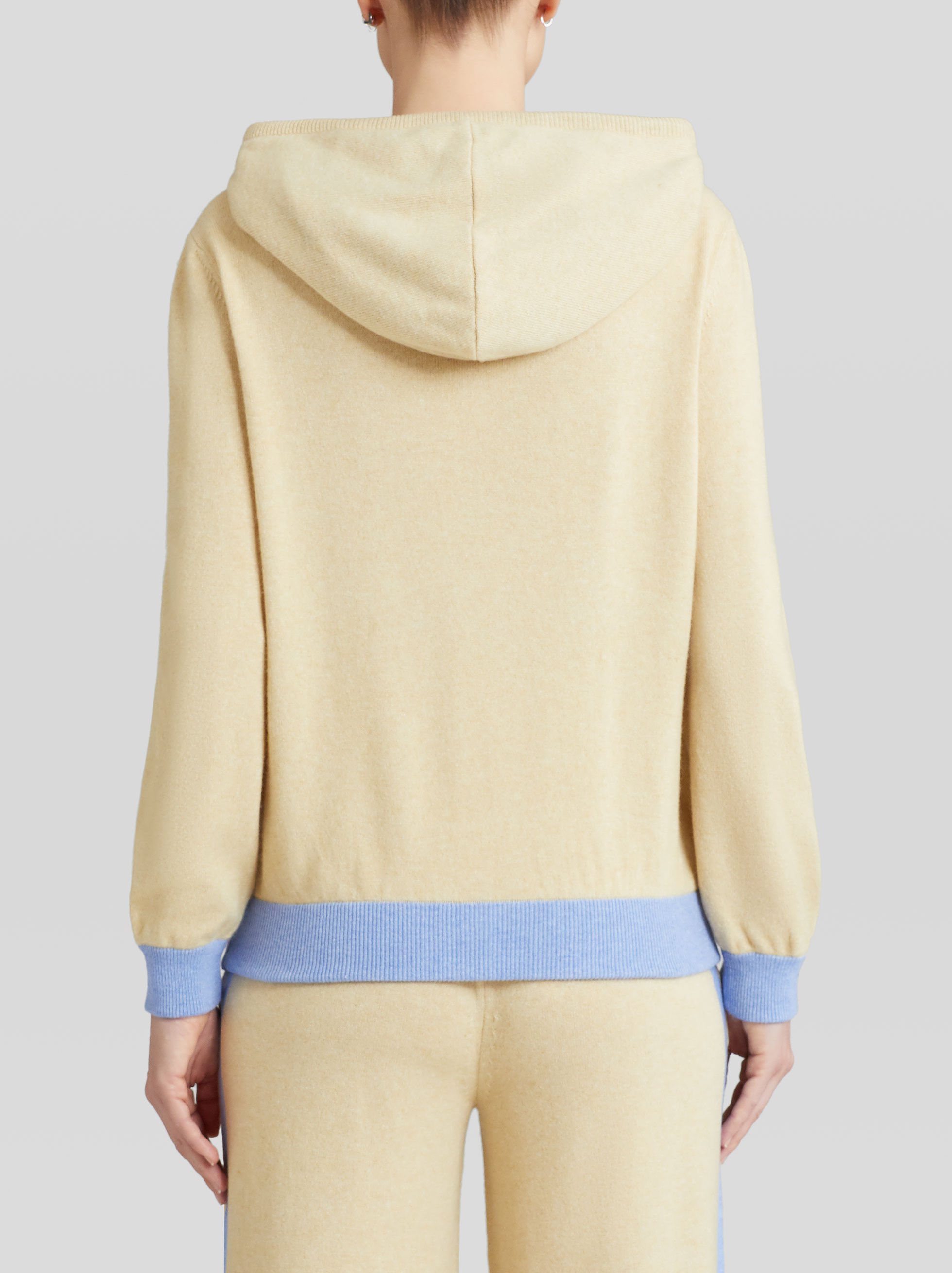 WOOL AND CASHMERE HOODED SWEATSHIRT