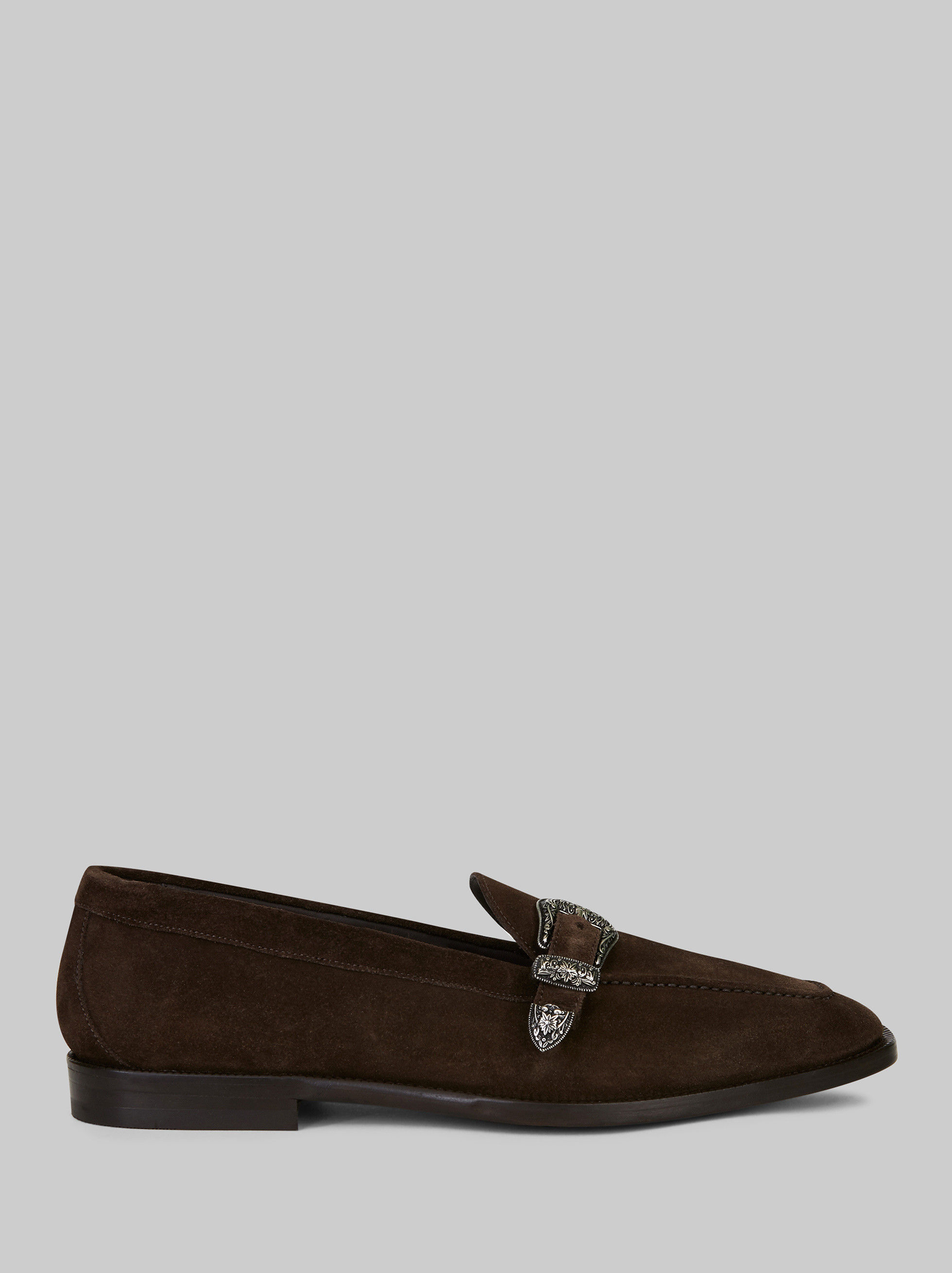 SUEDE LOAFERS WITH BUCKLE
